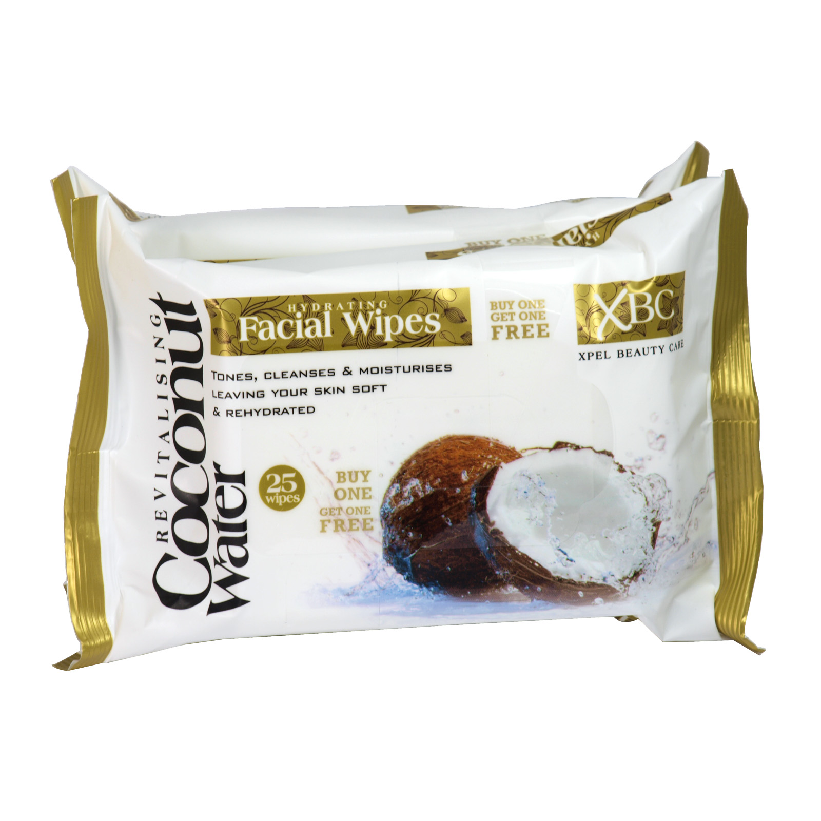 COCONUT WATER HYDRATE FACE WIPES 2X25S X12