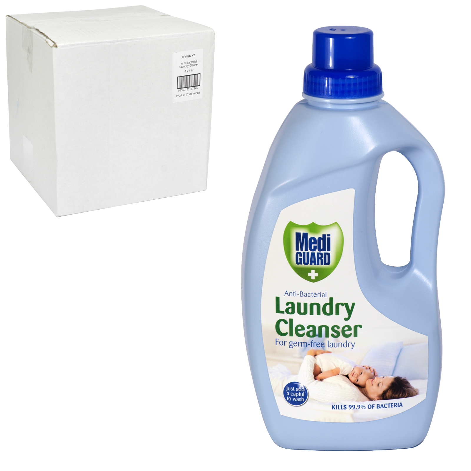 MEDIGUARD ANTI-BACTERIAL LAUNDRY CLEANSER 1L X6
