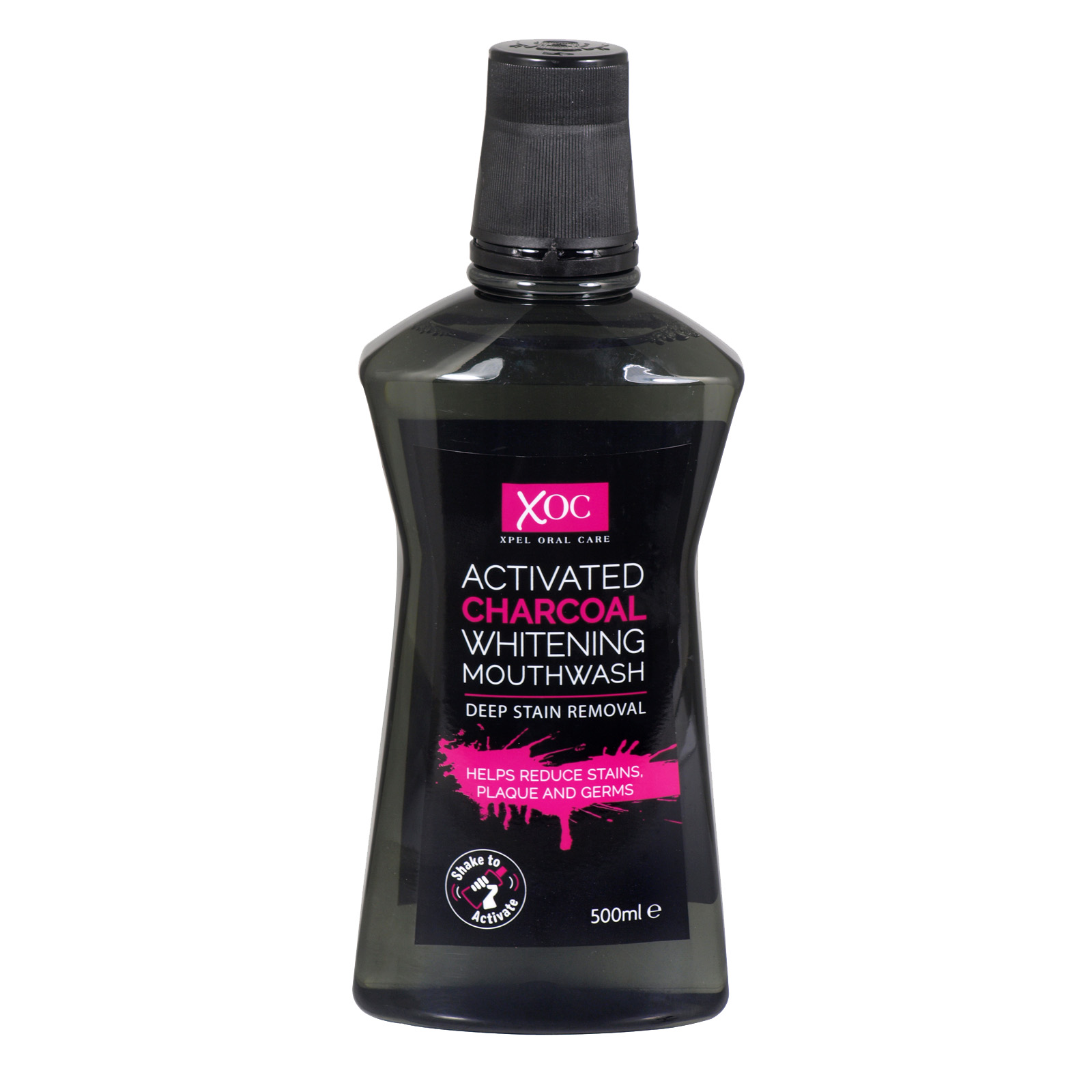 XOC ACTIVATED CHARCOAL WHITENING MOUTHWASH 500ML X12