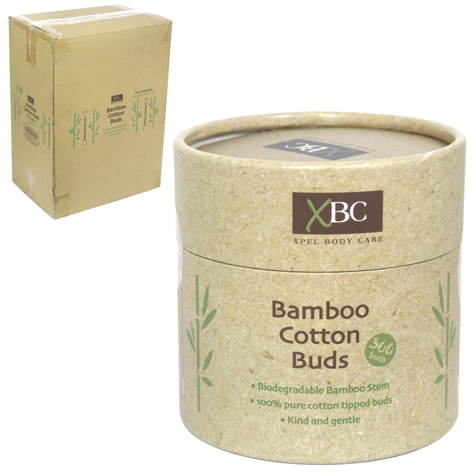 XBC ECO FRIENDLY BAMBOO COTTON BUDS 300S X24