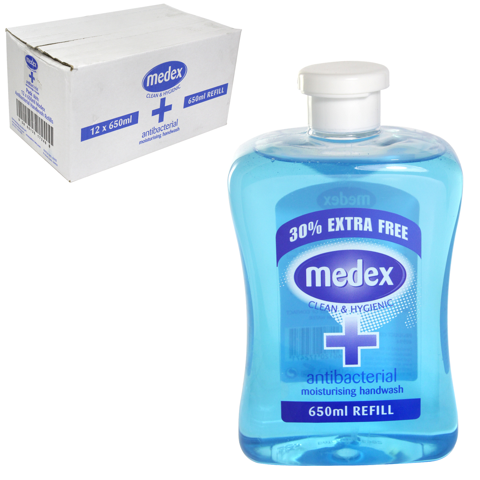 MEDEX ANTI-BAC HAND WASH FLIP CAP 650ML ORIGINAL X12