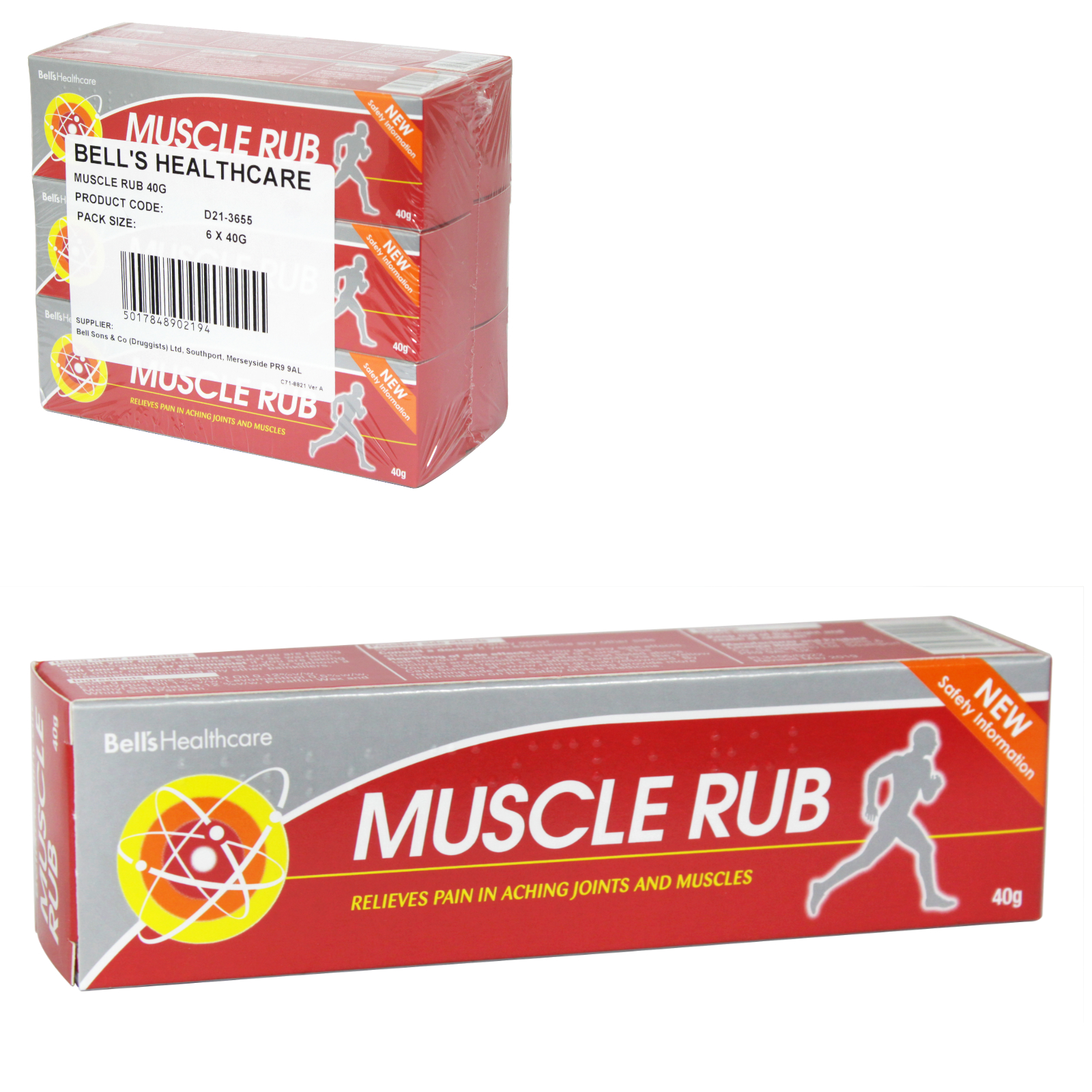 BELLS MUSCLE RUB OINTMENT 40GM X6 (NON RETURNABLE)