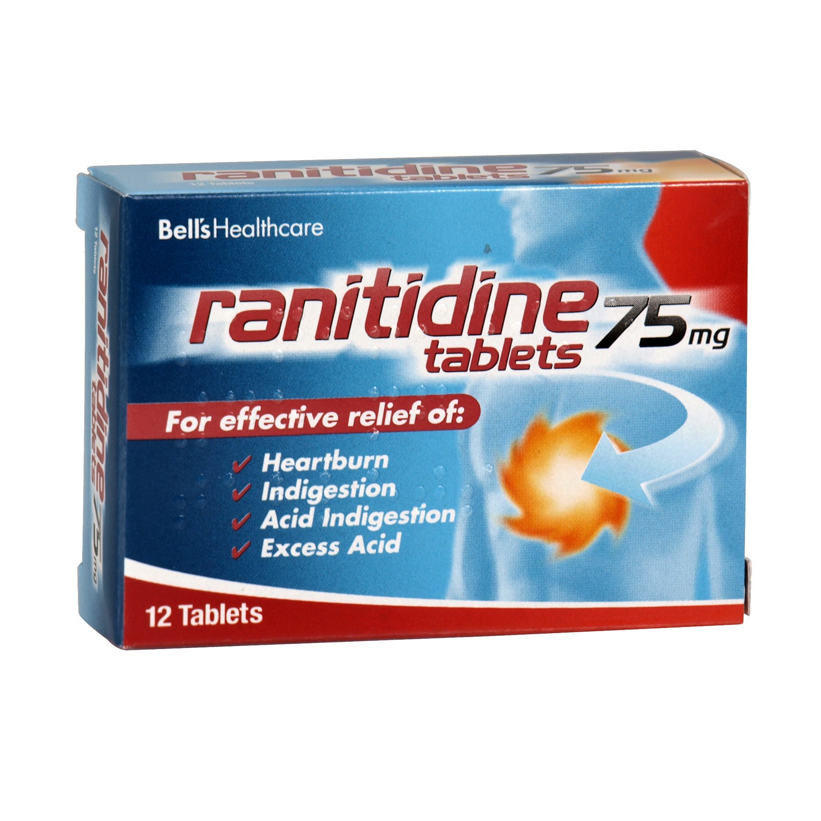 BELLS RANITIDINE 12X75MG X6 (NON RETURNABLE)