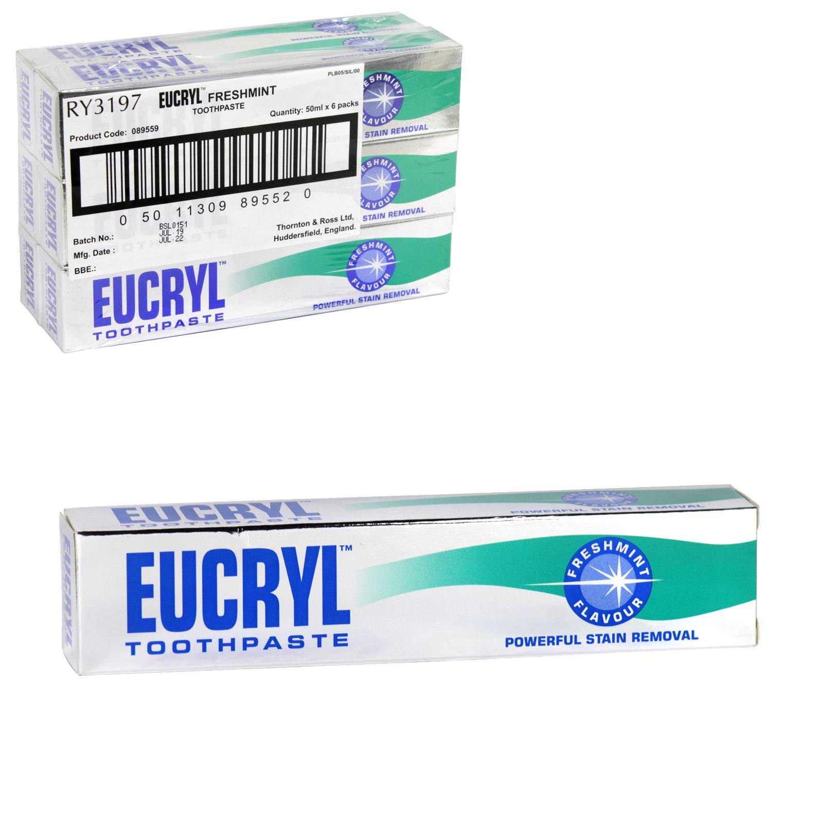 EUCRYL SMOKERS TOOTHPASTE 50ML FRESH X6