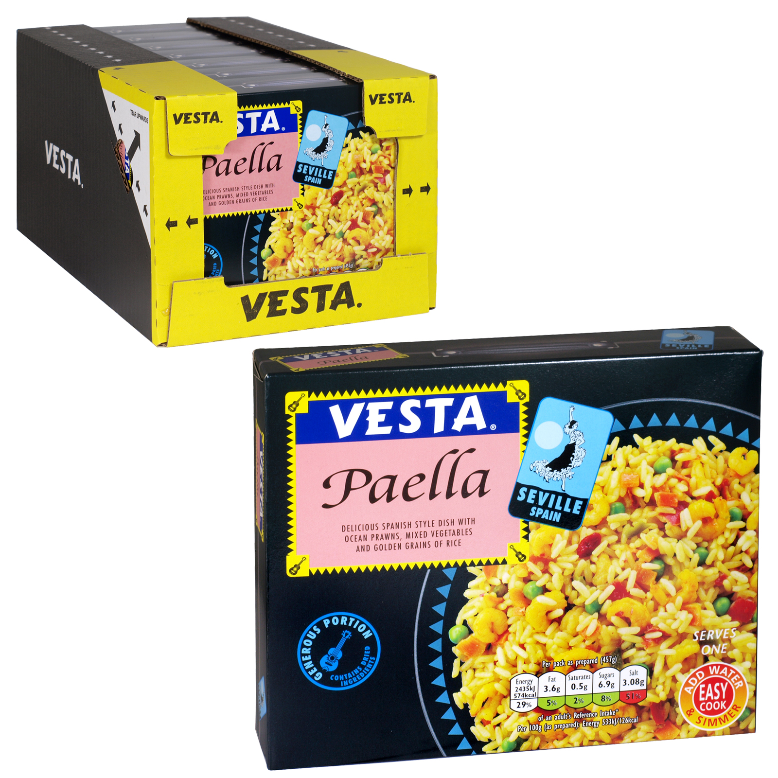 VESTA PAELLA NEW LARGE SIZE 146GM X 7
