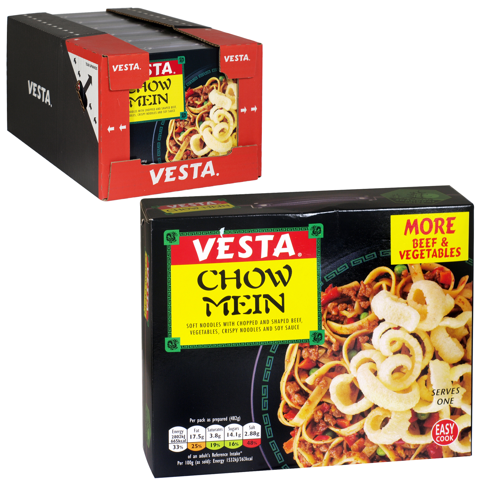VESTA CHOW MEIN NEW LARGE SIZE 152GM X 6