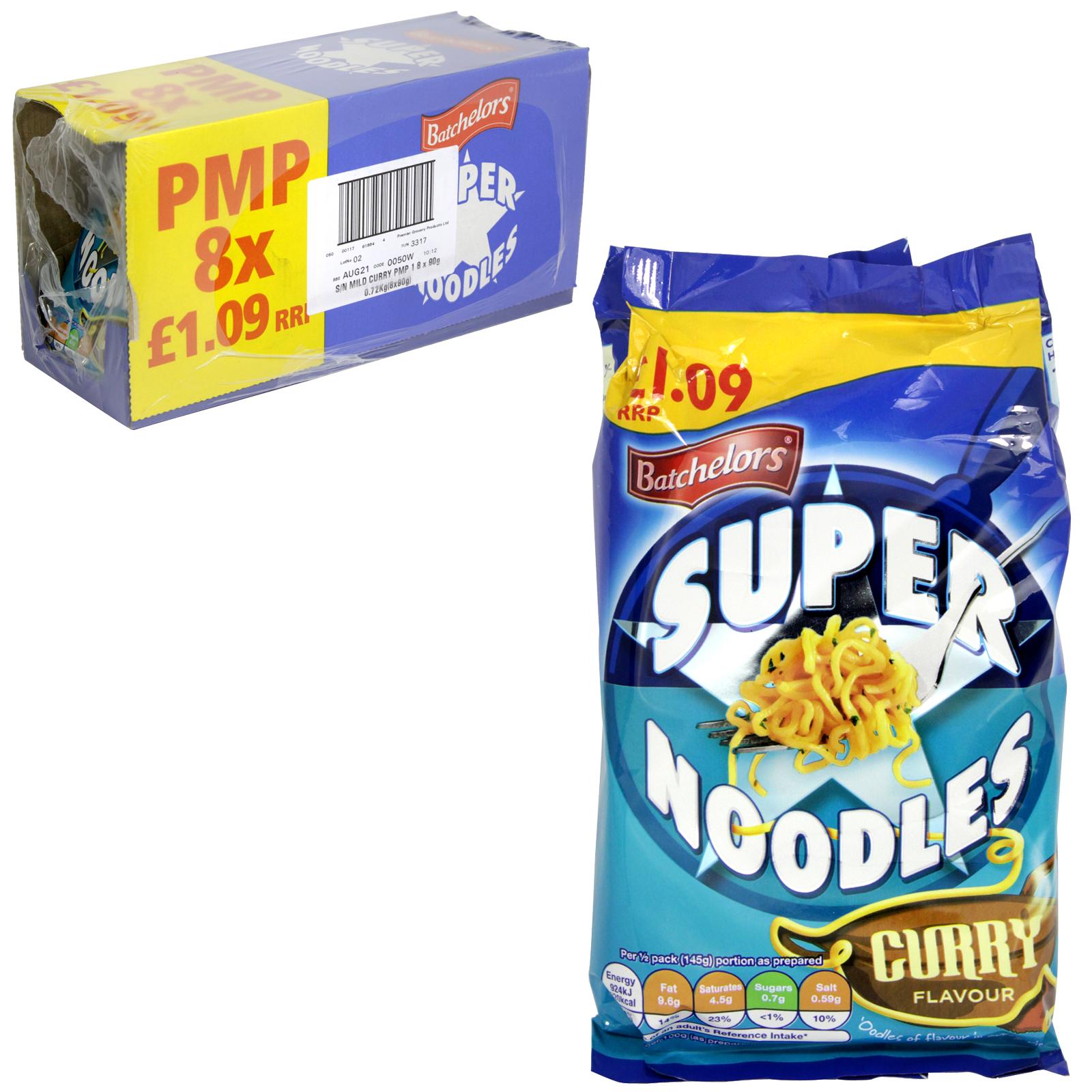 BATCH SUPER NOODLES 90GM MILD CURRY X8