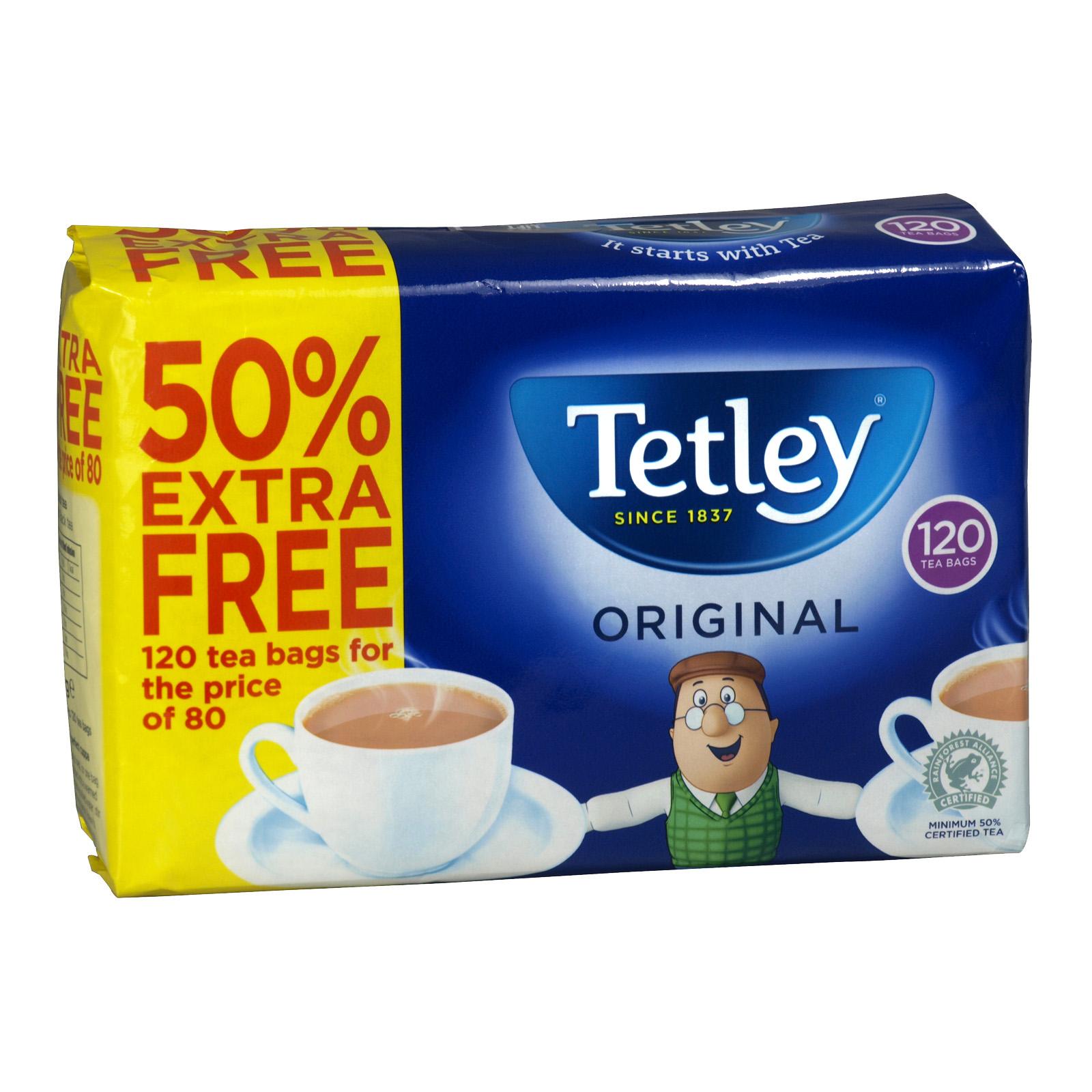 TETLEY 80S + 50% FREE 120 BAGS X12