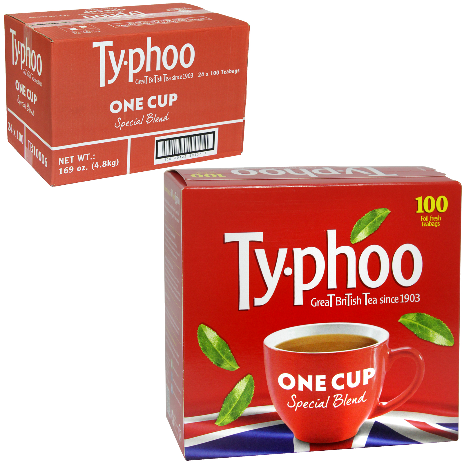 TYPHOO 100S ROUND TEA BAGS X 24
