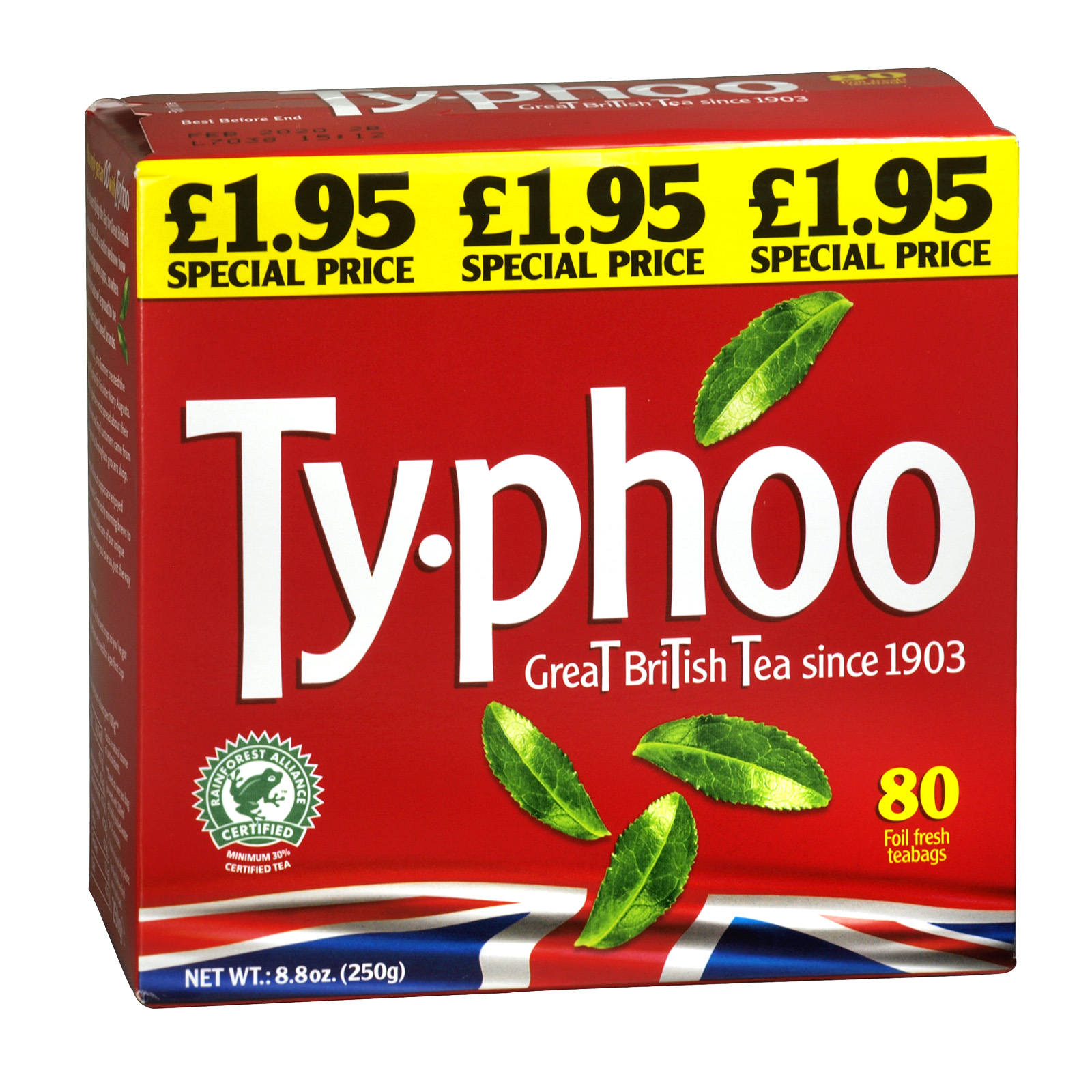 TYPHOO TEA BAGS 80S PM ?1.95 X 6