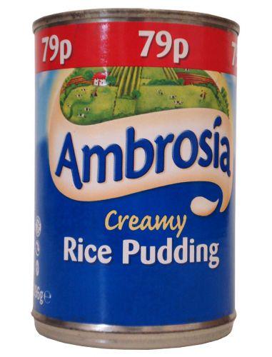 AMBROSIA CREAMED RICE PUDDING 400GM X6