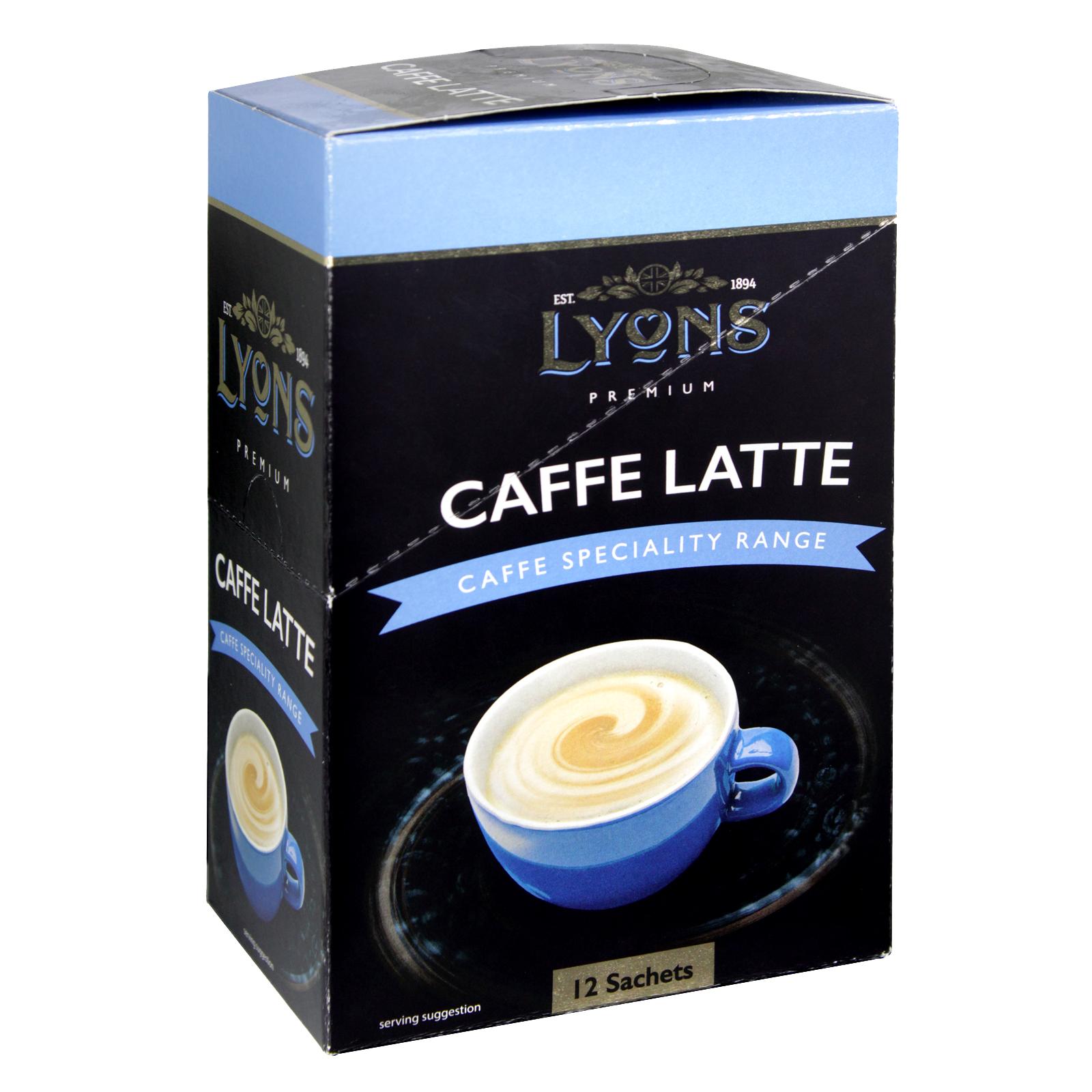 LYONS CAFFE LATTE 12 SACHETS X10