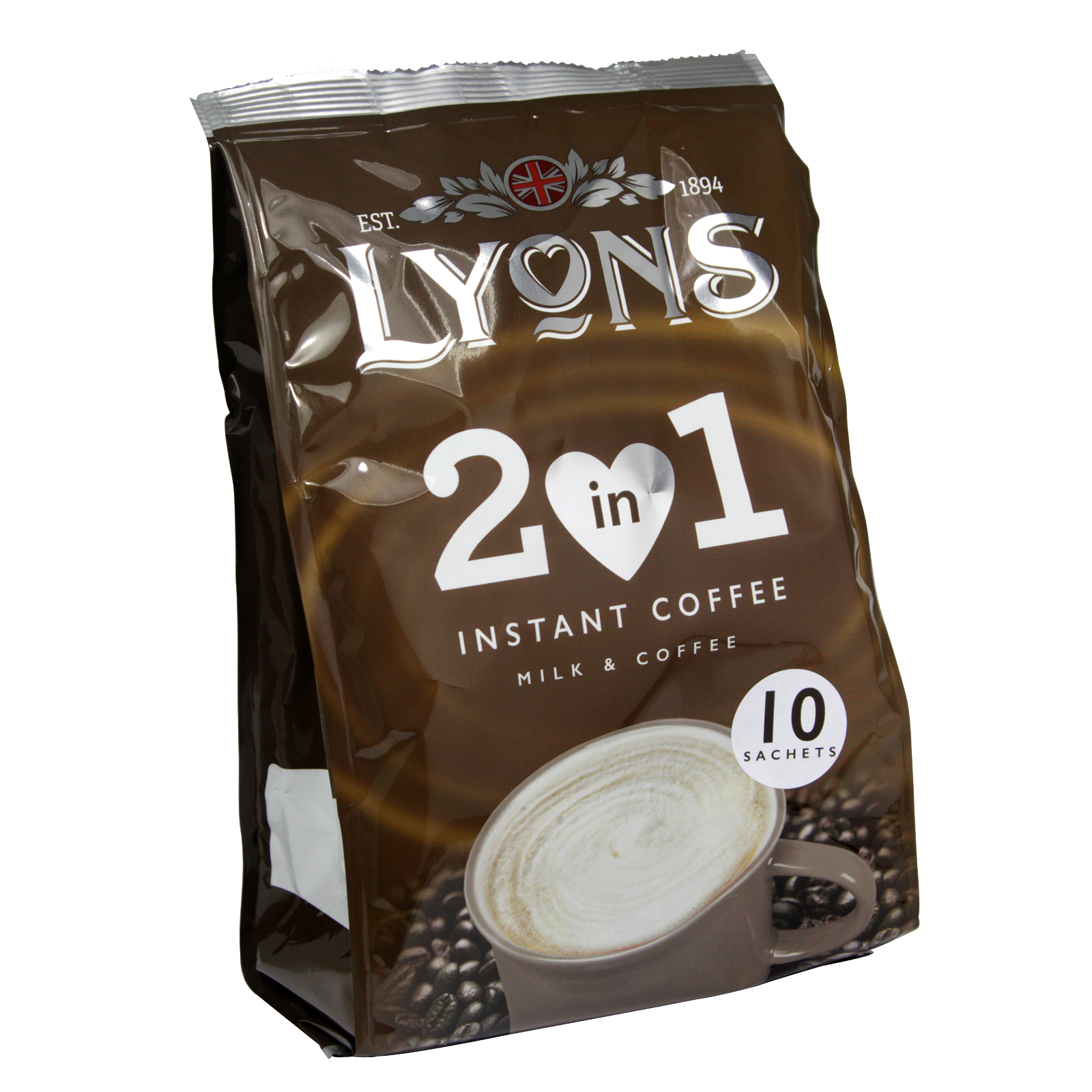 LYONS 2 IN 1 INSTANT COFFEE 10 SACHET X12
