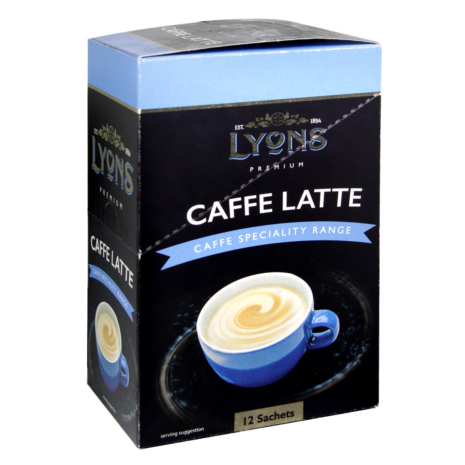 LYONS CAFFE SPECIALITY RANGE CAFFE LATTE 12 SACHETS X20