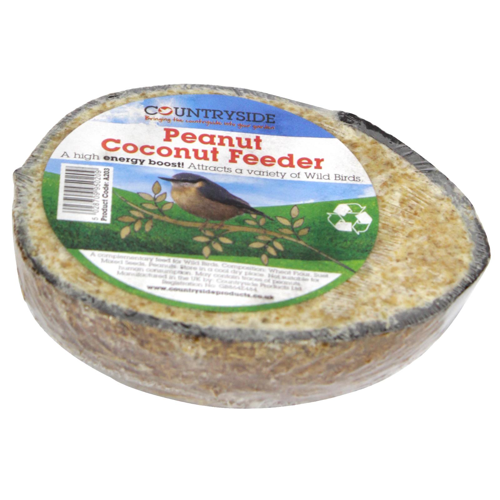 COUNTRYSIDE COCONUT FEEDER+PEANUTS