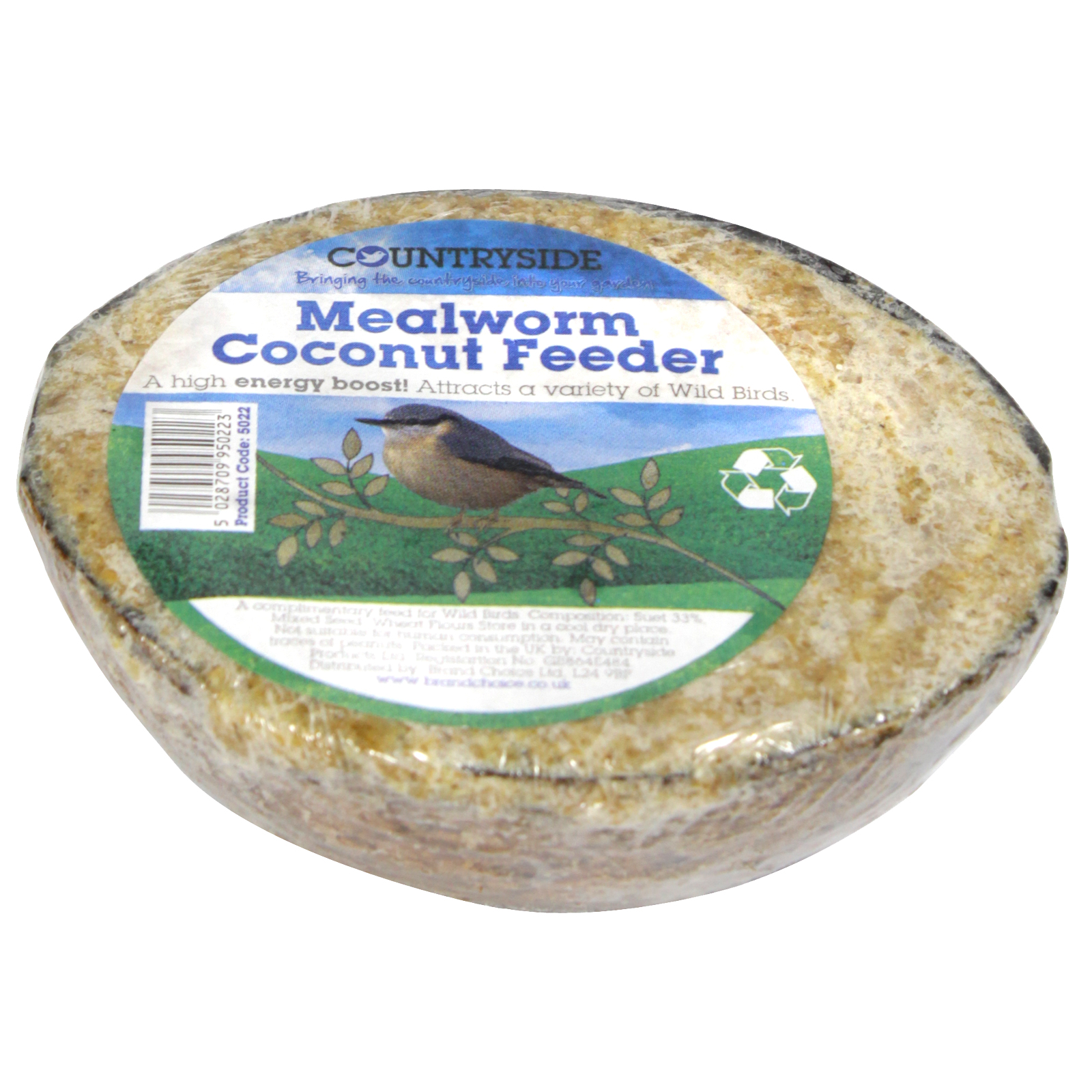 COUNTRYSIDE COCONUT FEEDER+MWORMS