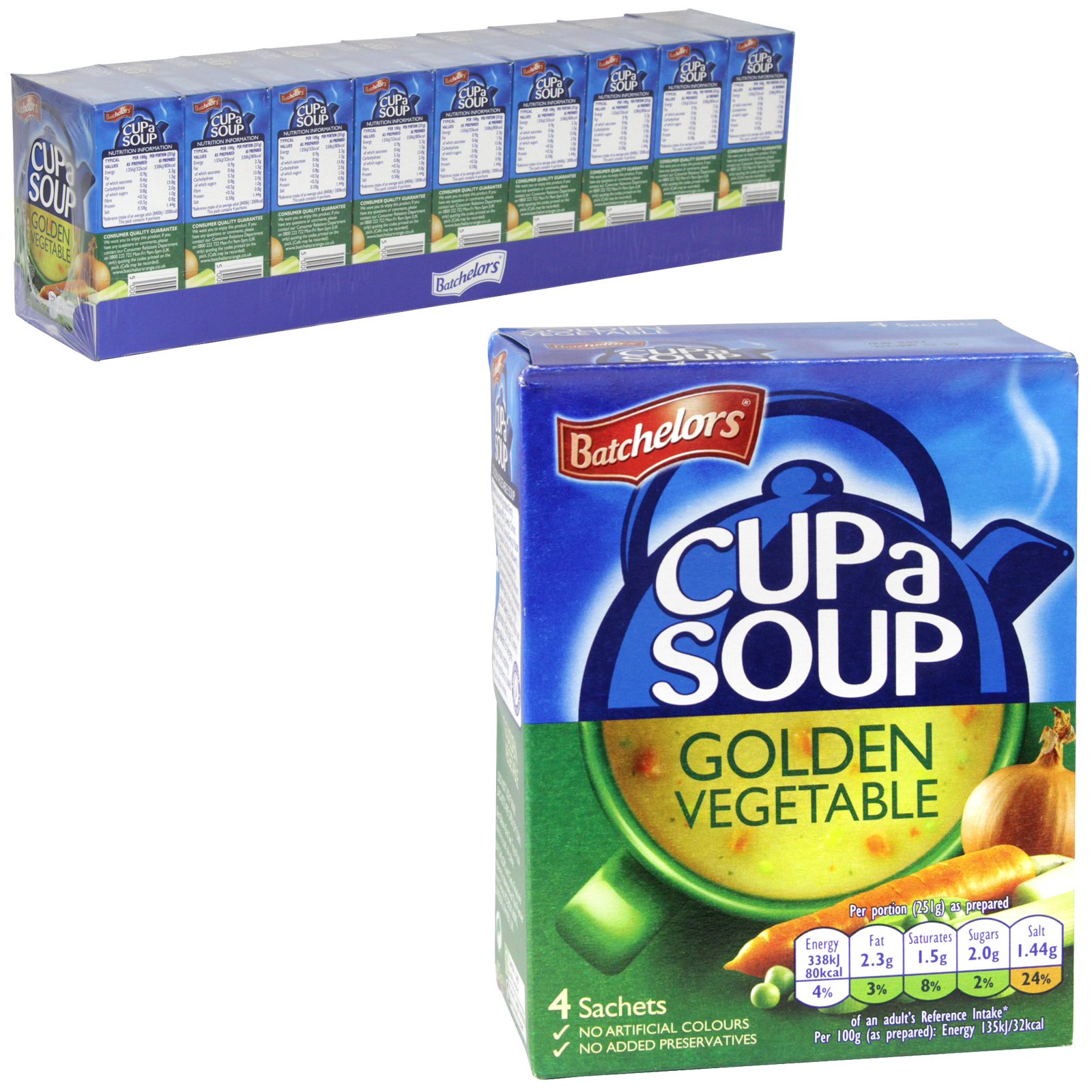 BATCH CUP-A-SOUP 4PK GOLDEN VEGETABLE X9