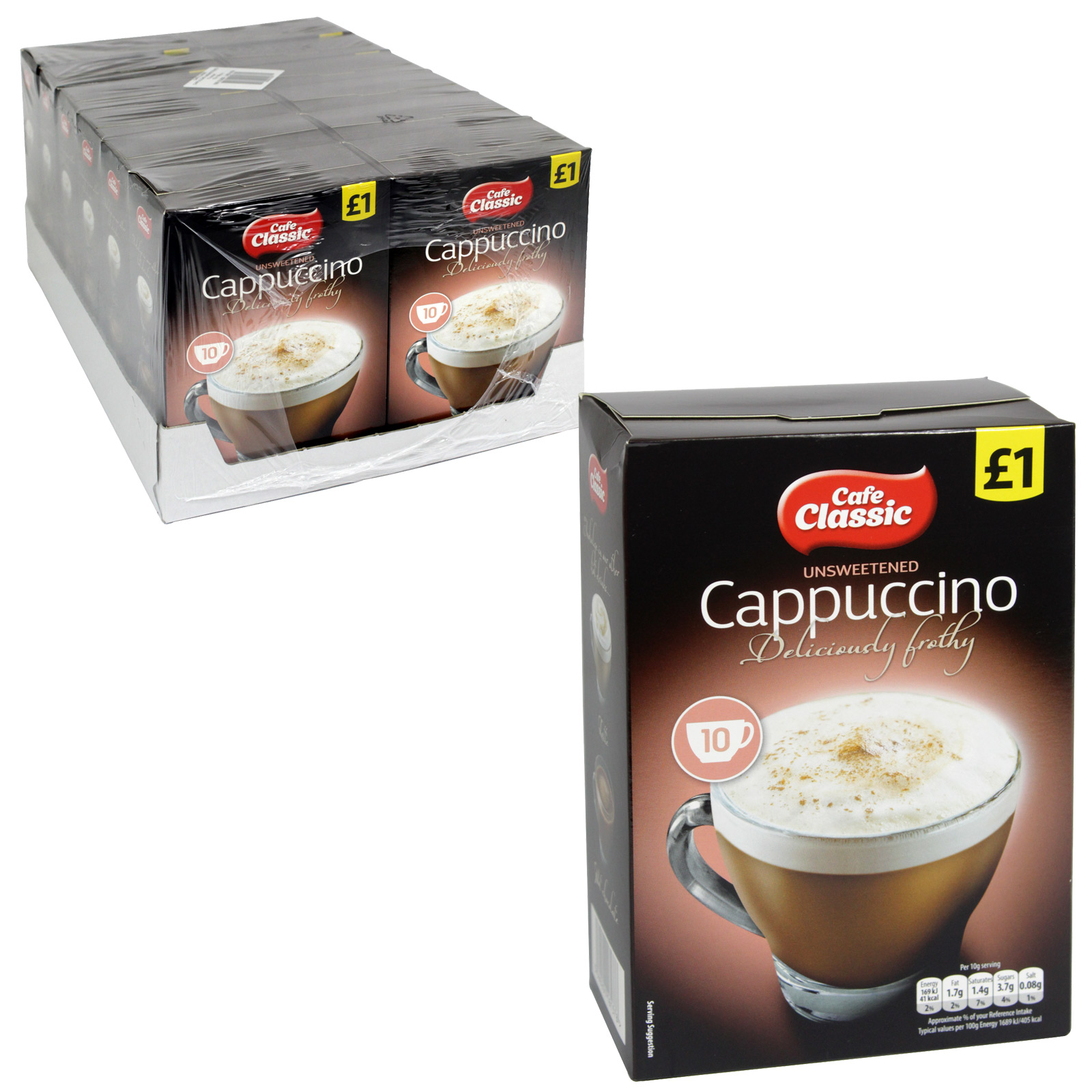 CAFE CLASSIC CAPPUCCINO UNSWEETENED 10PK PM?1 X12