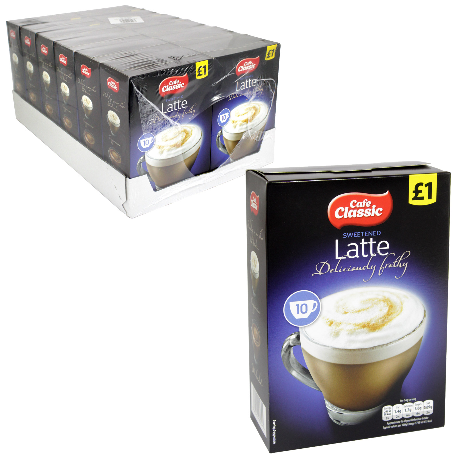 CAFE CLASSIC LATTE 10PK P/M ?1 X12