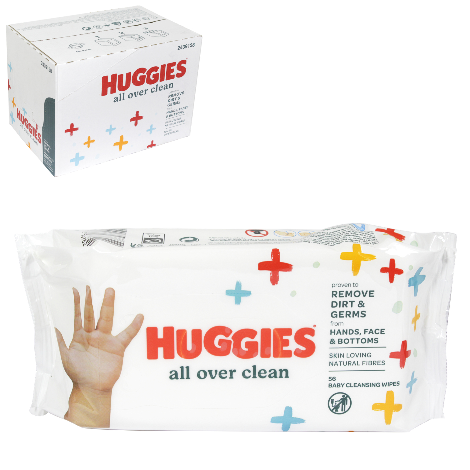 HUGGIES BABY WIPES 56S ALL OVER CLEAN X10