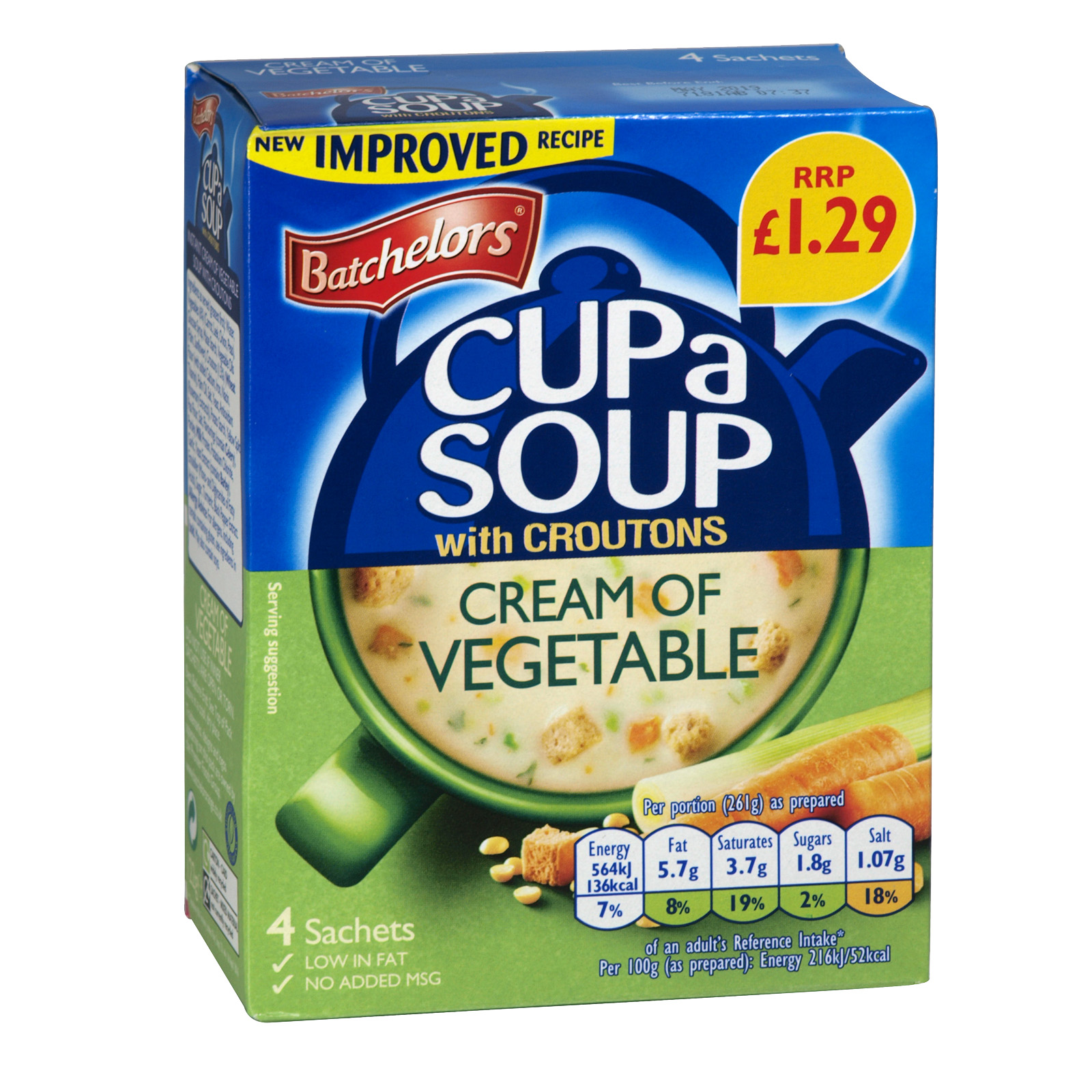 BATCH CUP-A-SOUP 4PK CREAMY VEGETABLE X9