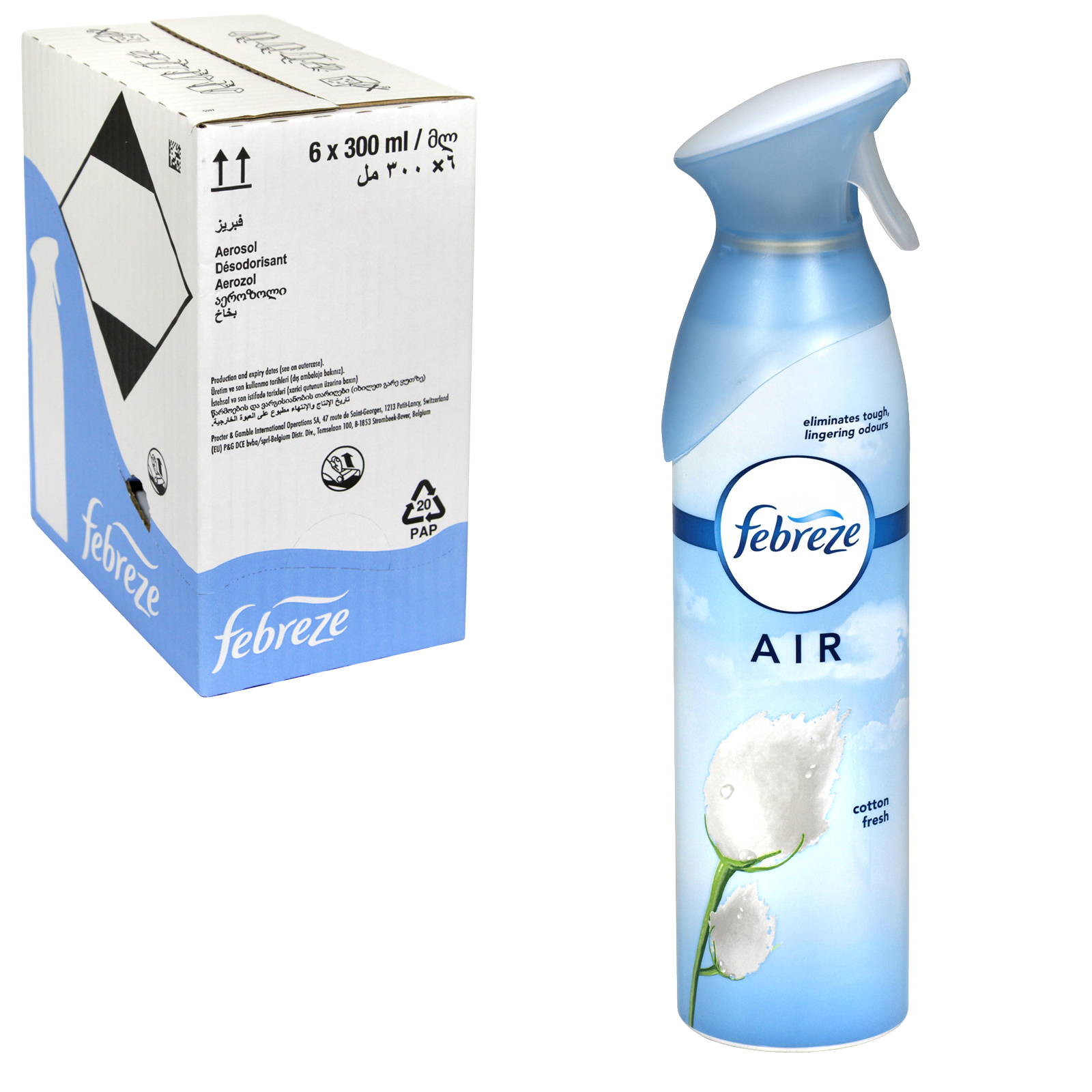 FEBREZE AIR FRESH 300ML COTTON FRESH X6