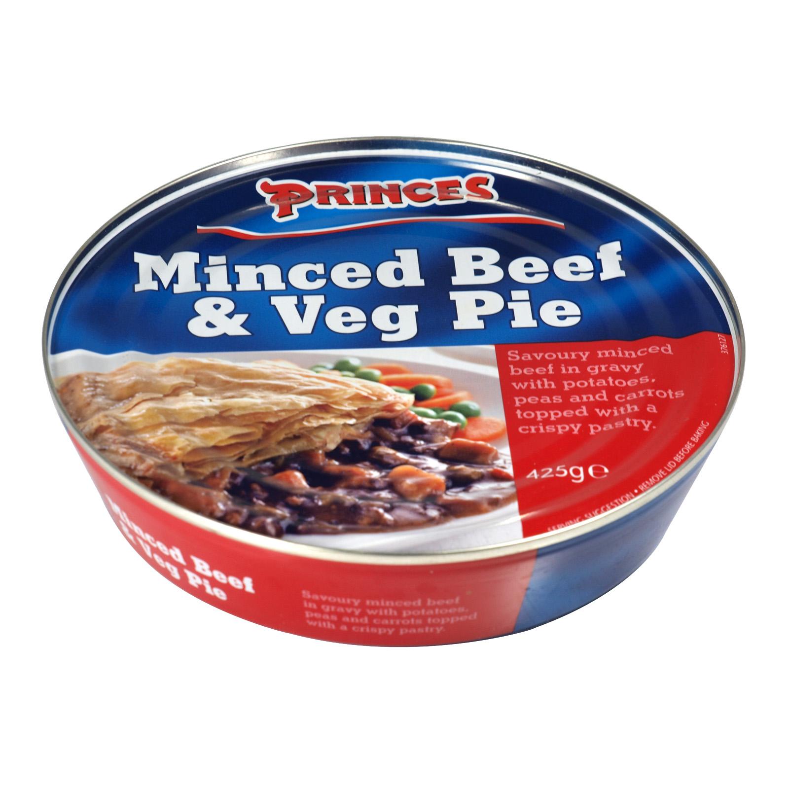 PRINCES PIE 425G MINCED BEEF+VEGETABLE PIE X6