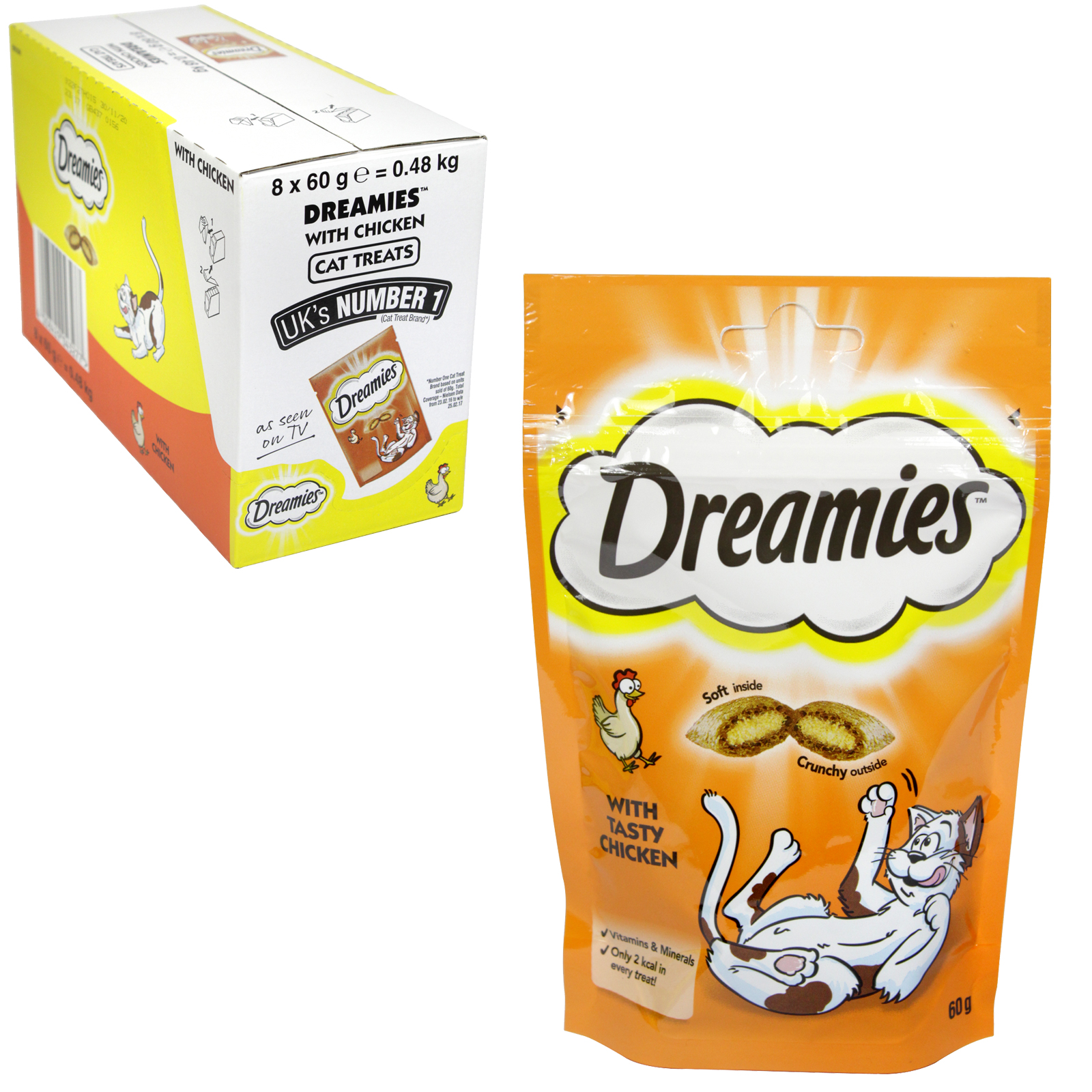 DREAMIES FOR CATS 60GM CHICKEN X8