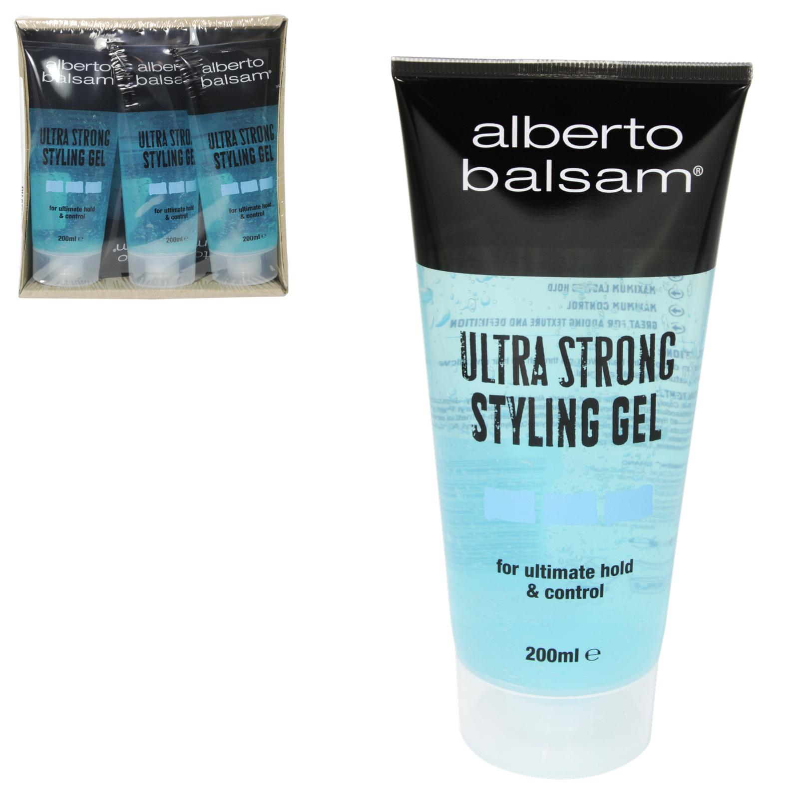 ALBERTO BALSAM HAIR GEL 200ML ULTRA STRONG X6