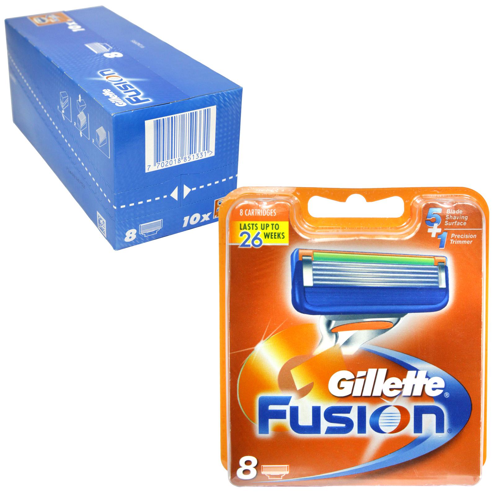 GILLETTE FUSION CARTRIDGES 8S
