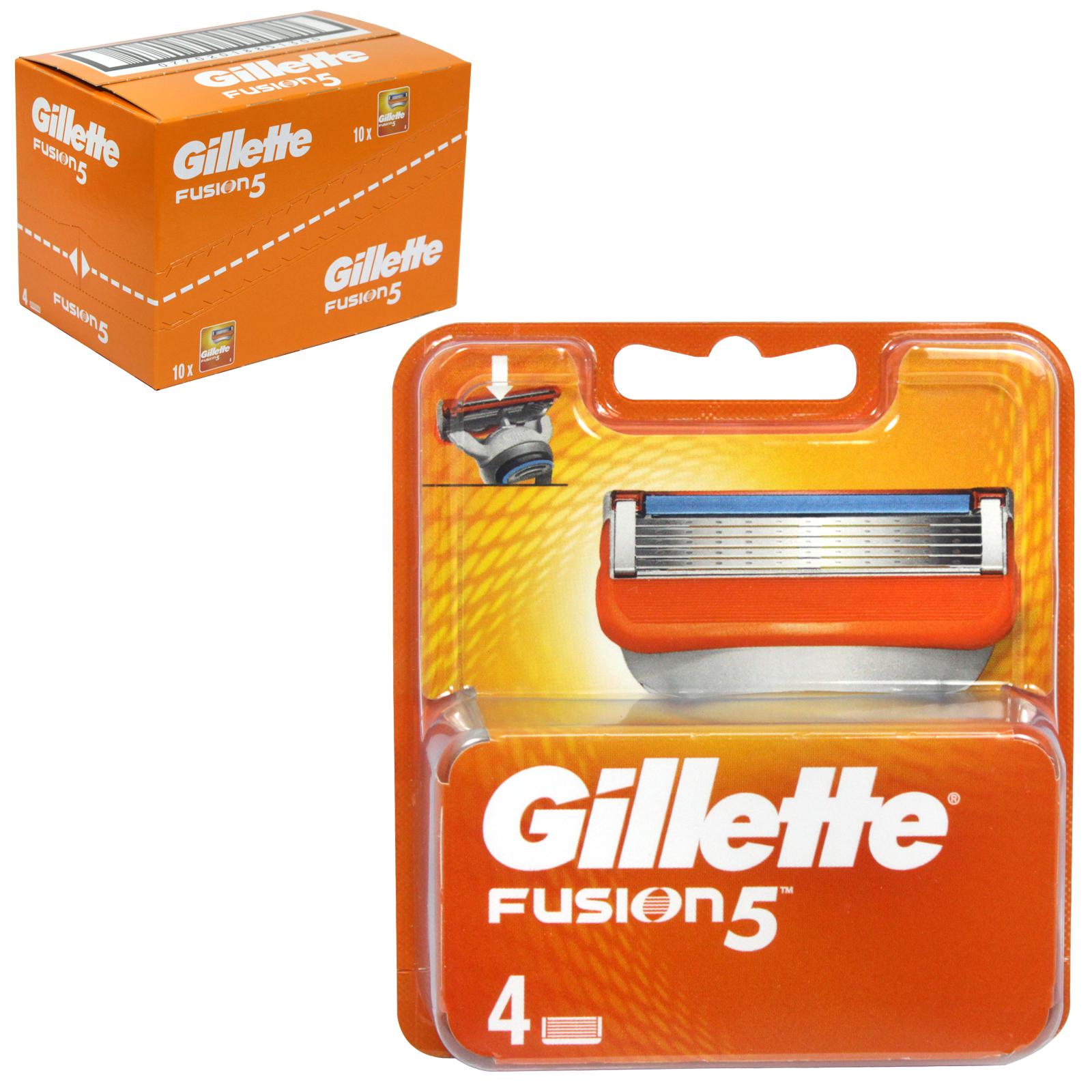 GILLETTE FUSION CARTRIDGES 4S X10