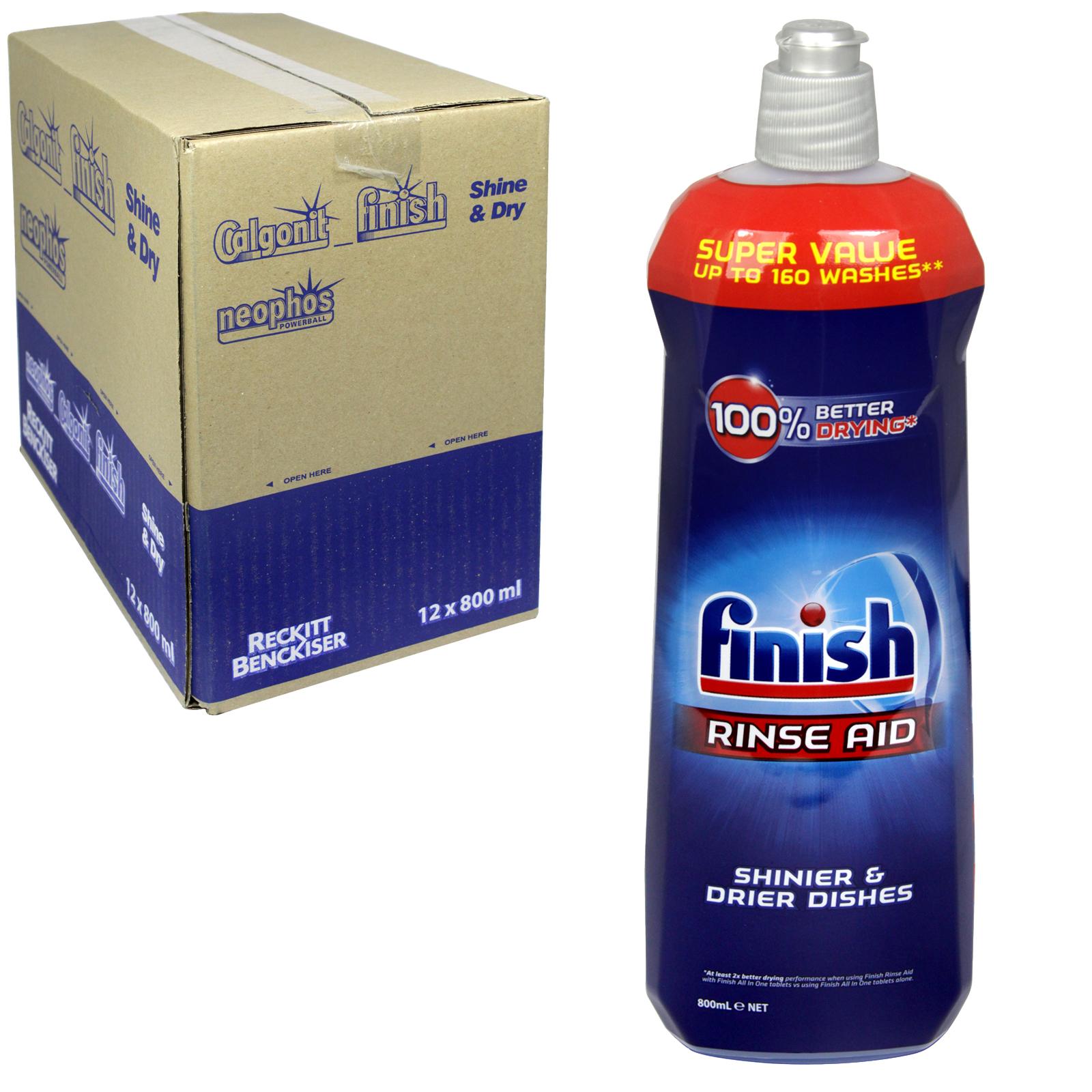 FINISH RINSE AID 800ML REGULAR X12