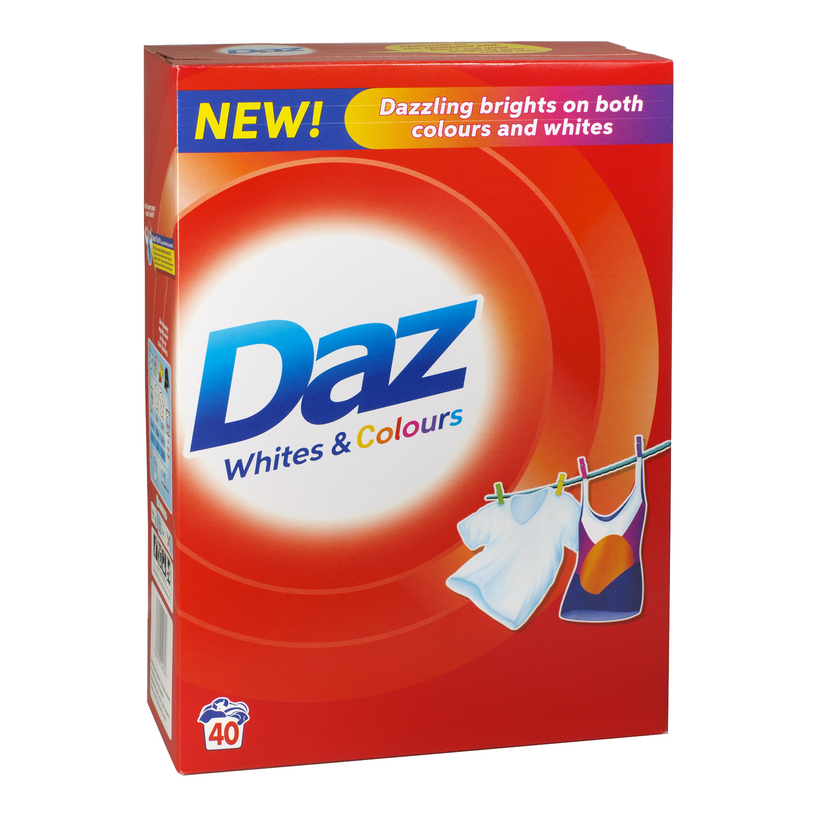 DAZ POWDER 40 WASH 2.6KG ORIGINAL X4