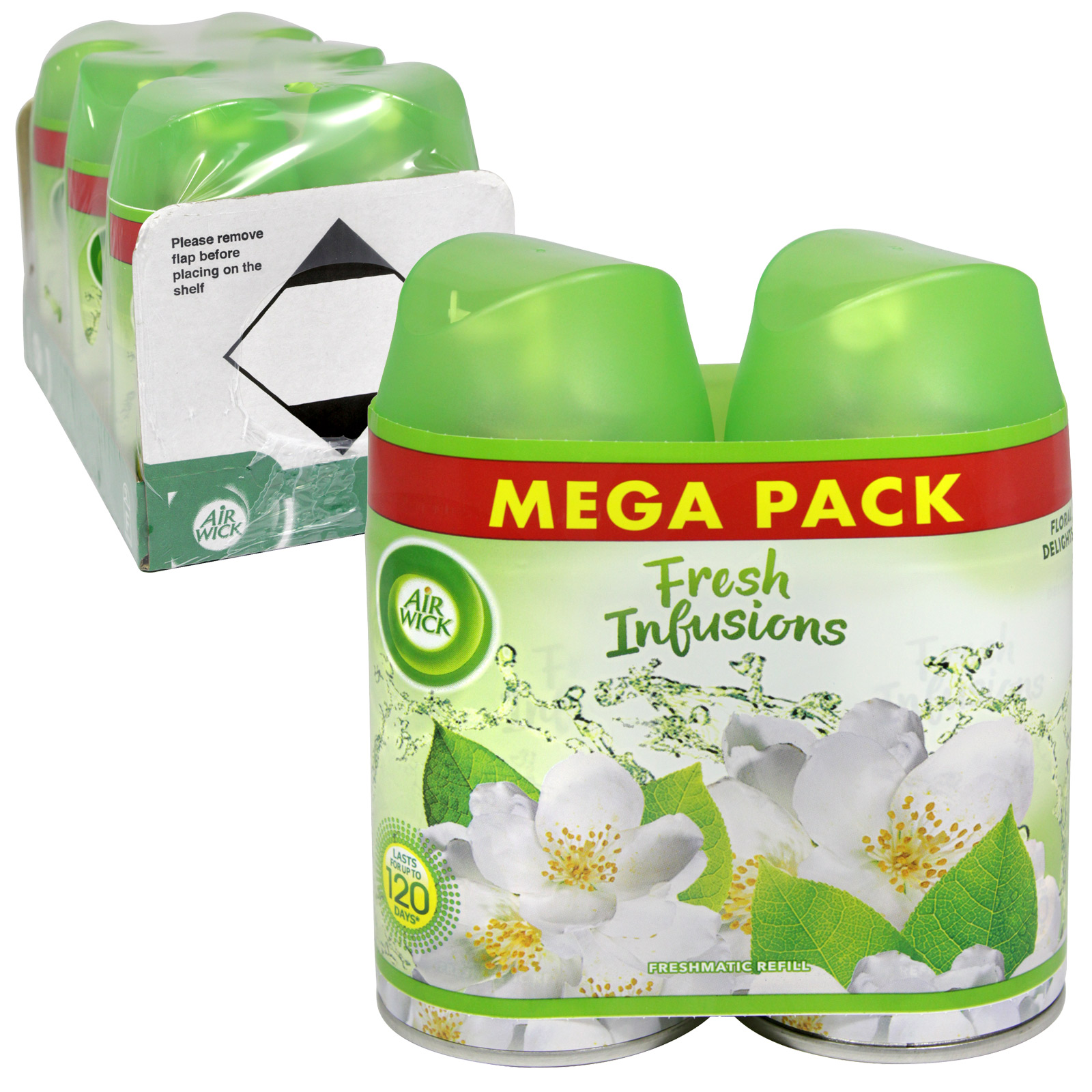 AIRWICK FRESHMATIC REFILL 2X250ML FLORAL DELIGHTS X3