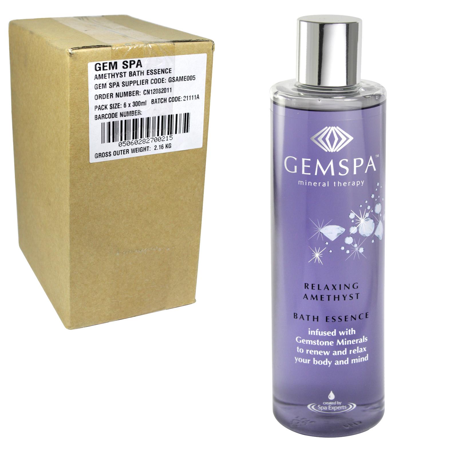 GEMSPA AMETHYST BATH ESSENCE 300ML X6