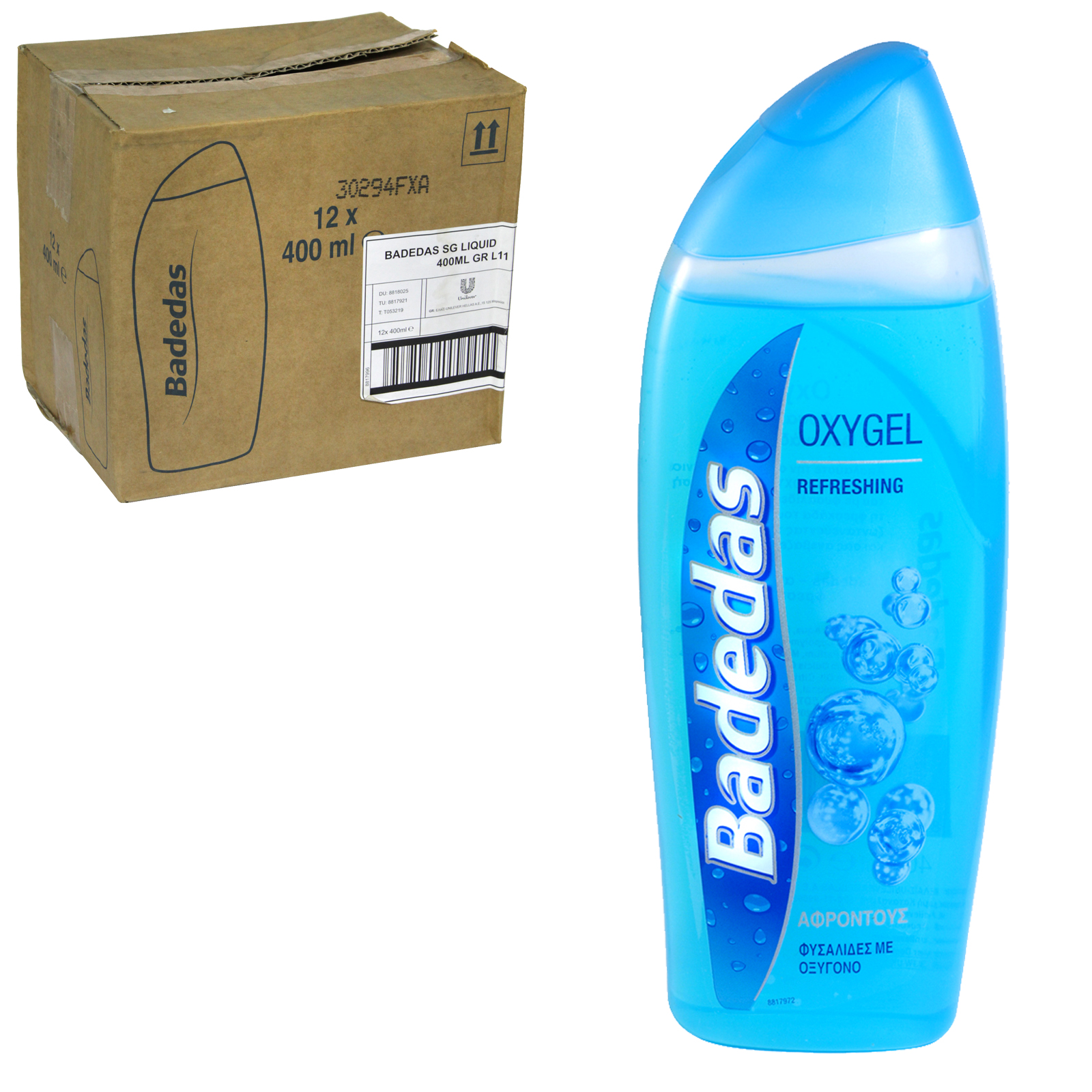 BADEDAS SHOWER GEL 400ML OXYGEL X12