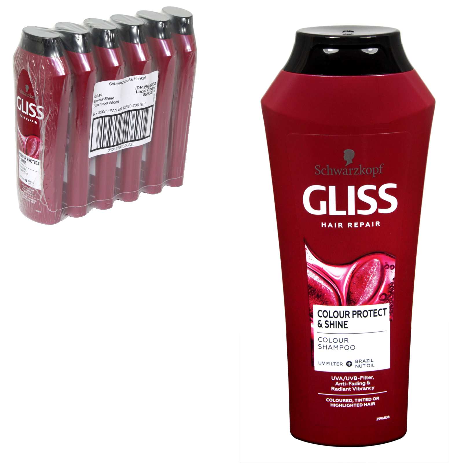GLISS SHAMPOO 250ML COLOUR ULTIMATE X6