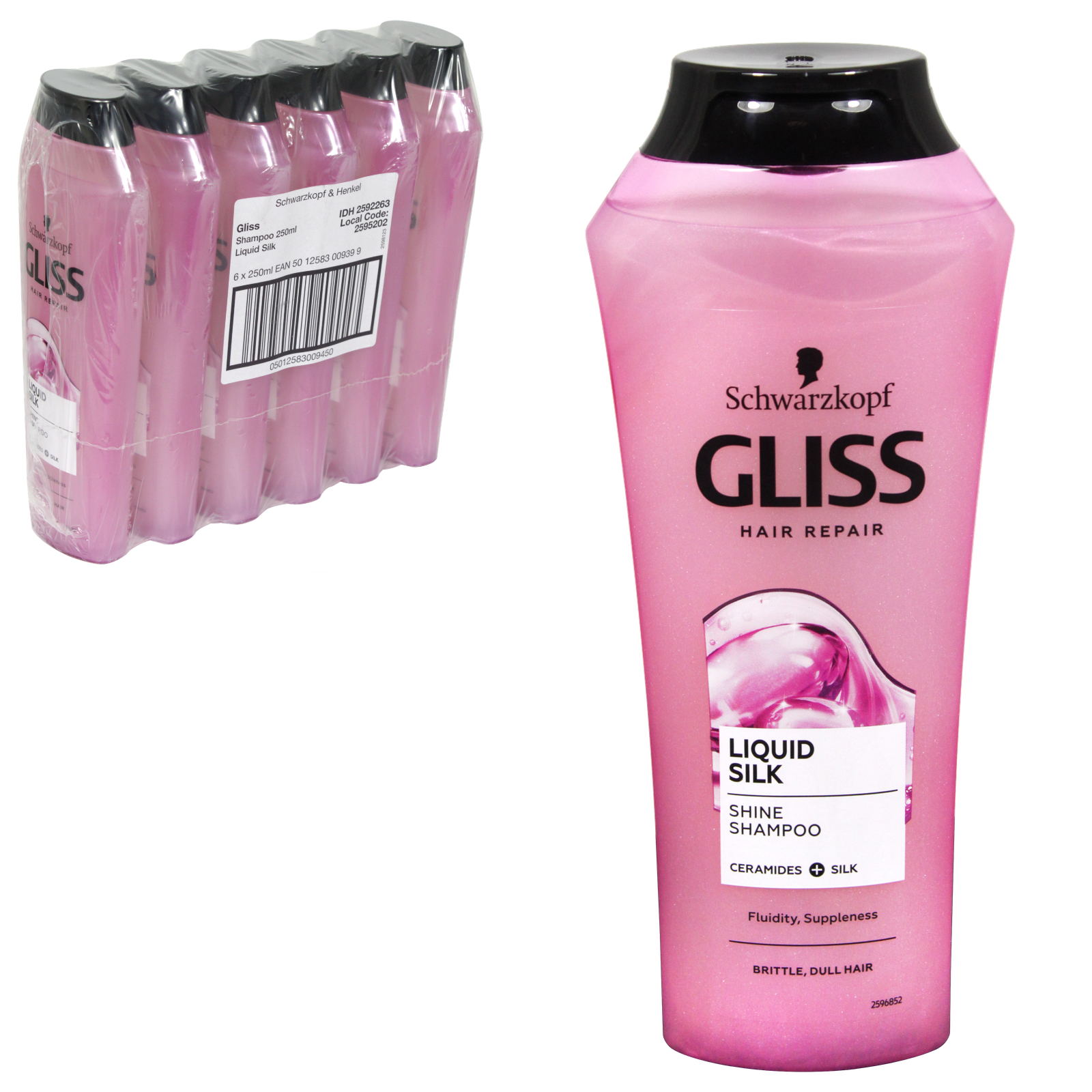 GLISS SHAMPOO 250ML LIQUID SILK X6