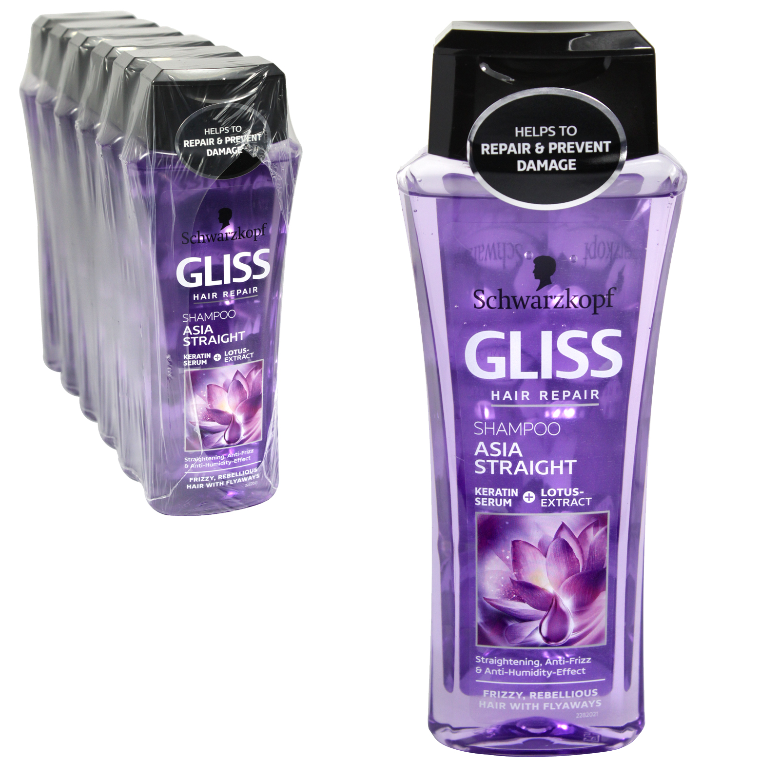 GLISS SHAMPOO 250ML ASIA STRAIGHT X6
