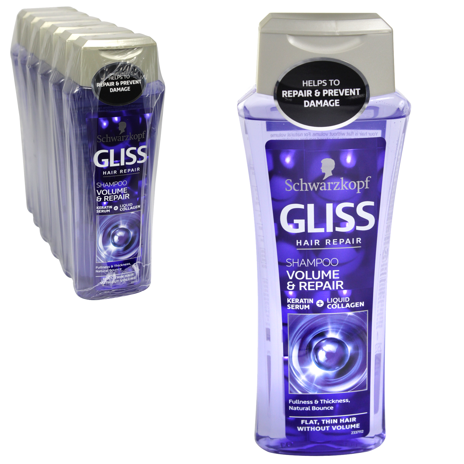 GLISS SHAMPOO 250ML ULTIMATE VOLUME X6