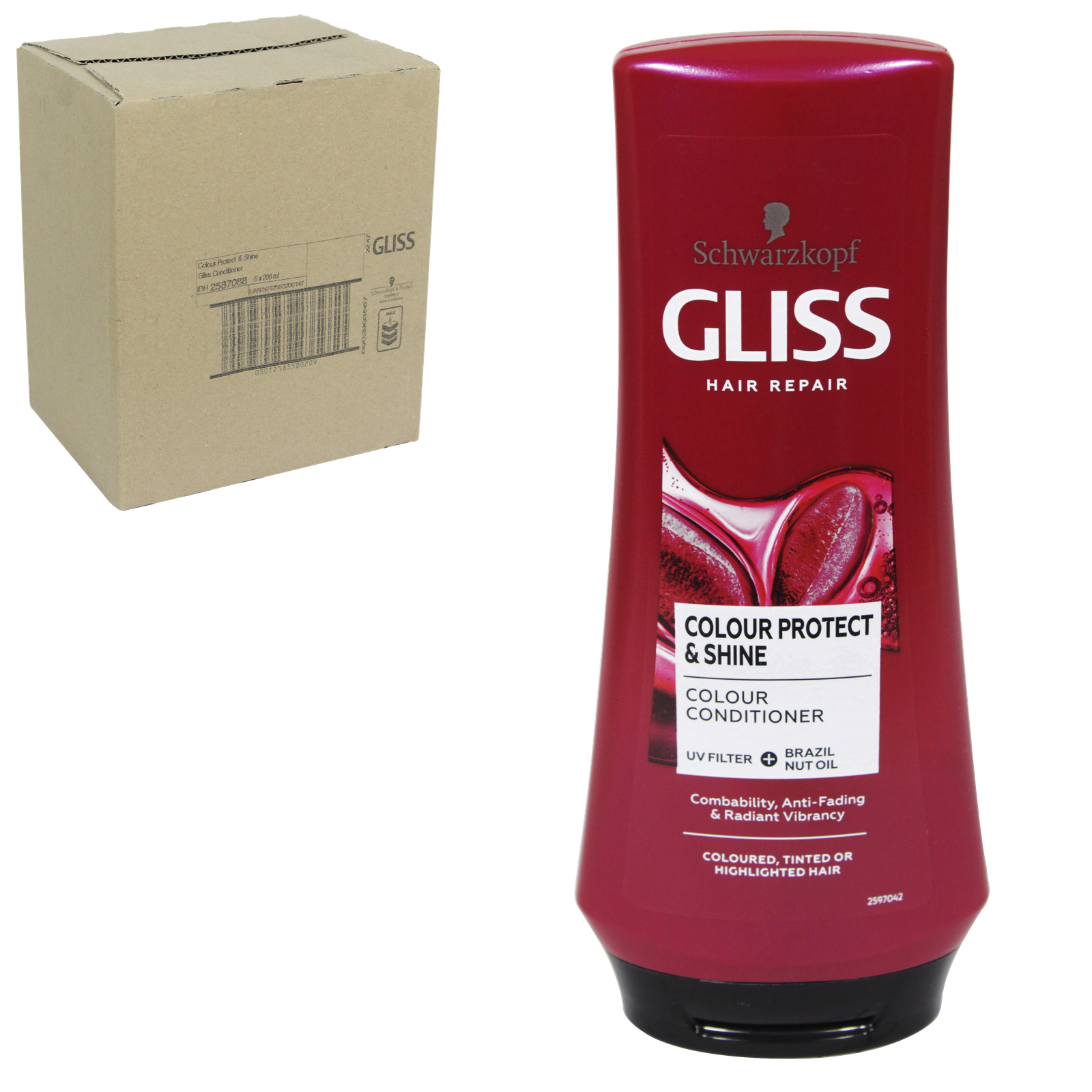 GLISS CONDITIONER 200ML COLOUR PROTECT & SHINE X6
