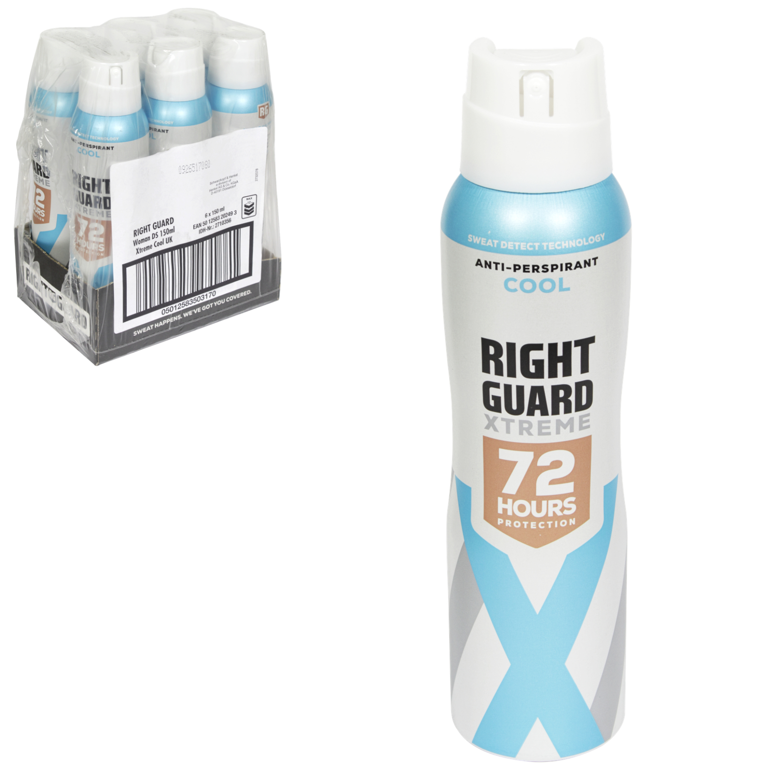 RIGHT GUARD XTREME APA FOR WOMEN 150ML ULTRA COOL X6