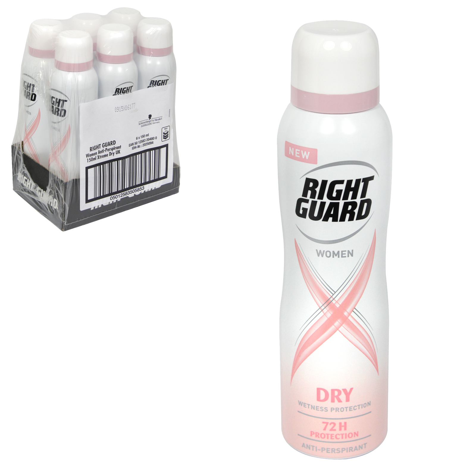 RIGHT GUARD XTREME APA FOR WOMEN 150ML DRY PINK X6