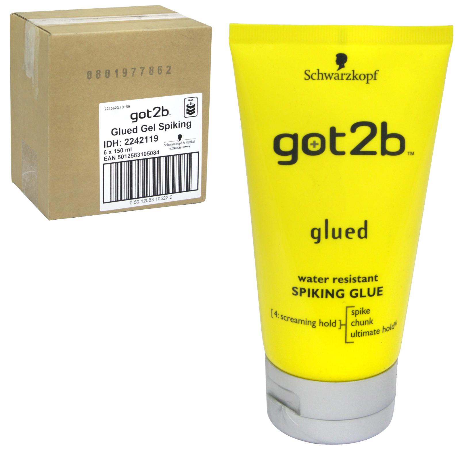 SCHWARZKOPF GOT 2B GLUED SPIKING GLUE 150ML X6