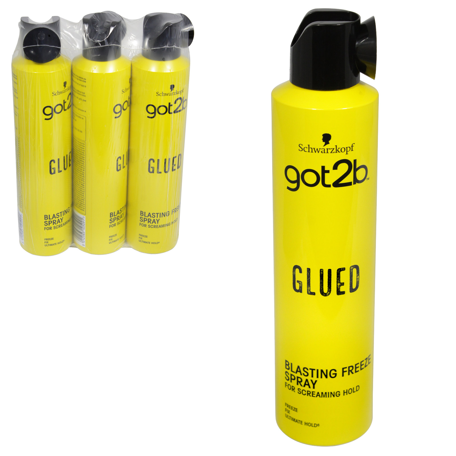 SCHWARZKOPF GOT 2B GI BLASTING FREEZE SPRAY 300ML X3