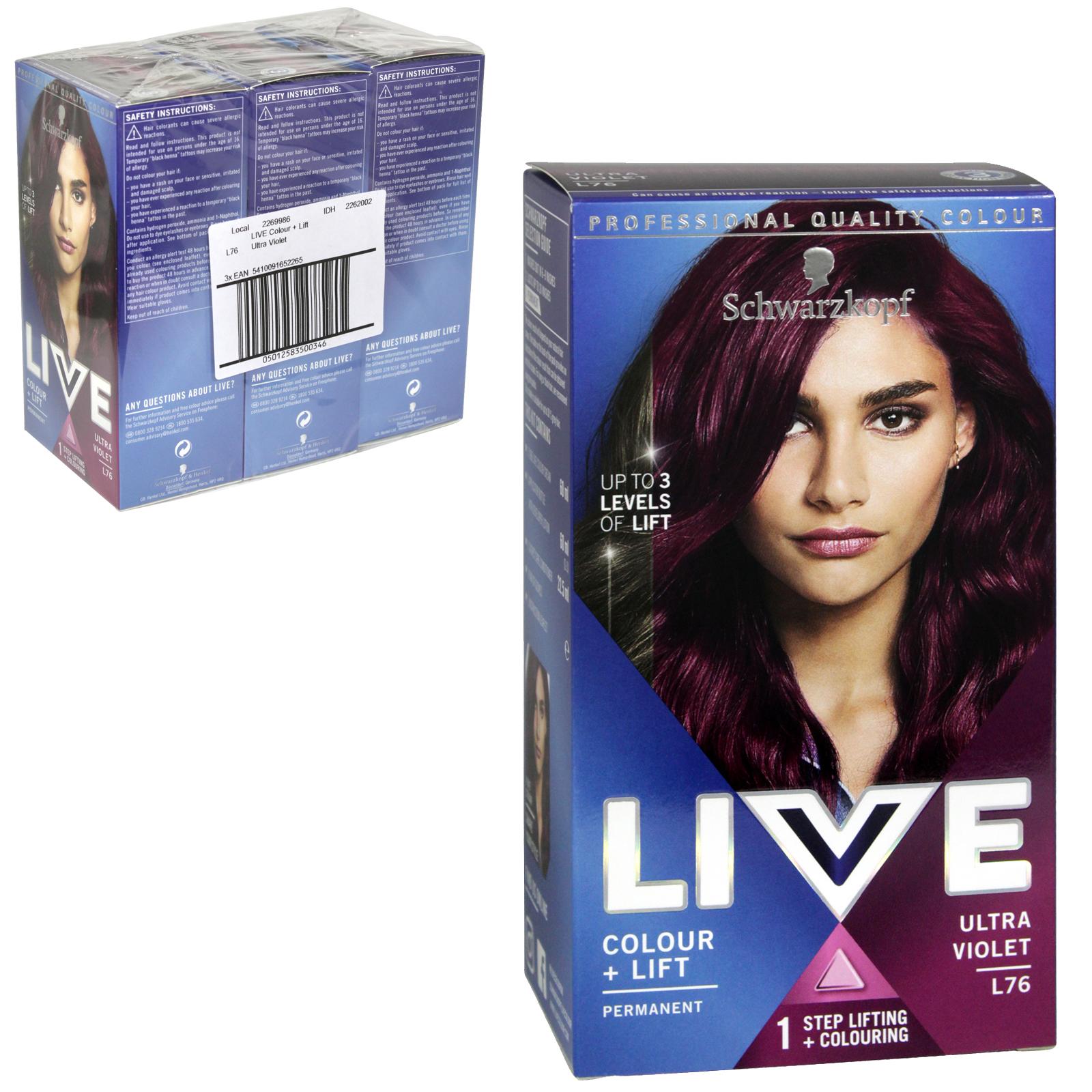 0abce9df77 schwarzkopf live hair colour permanent ultra violet x3