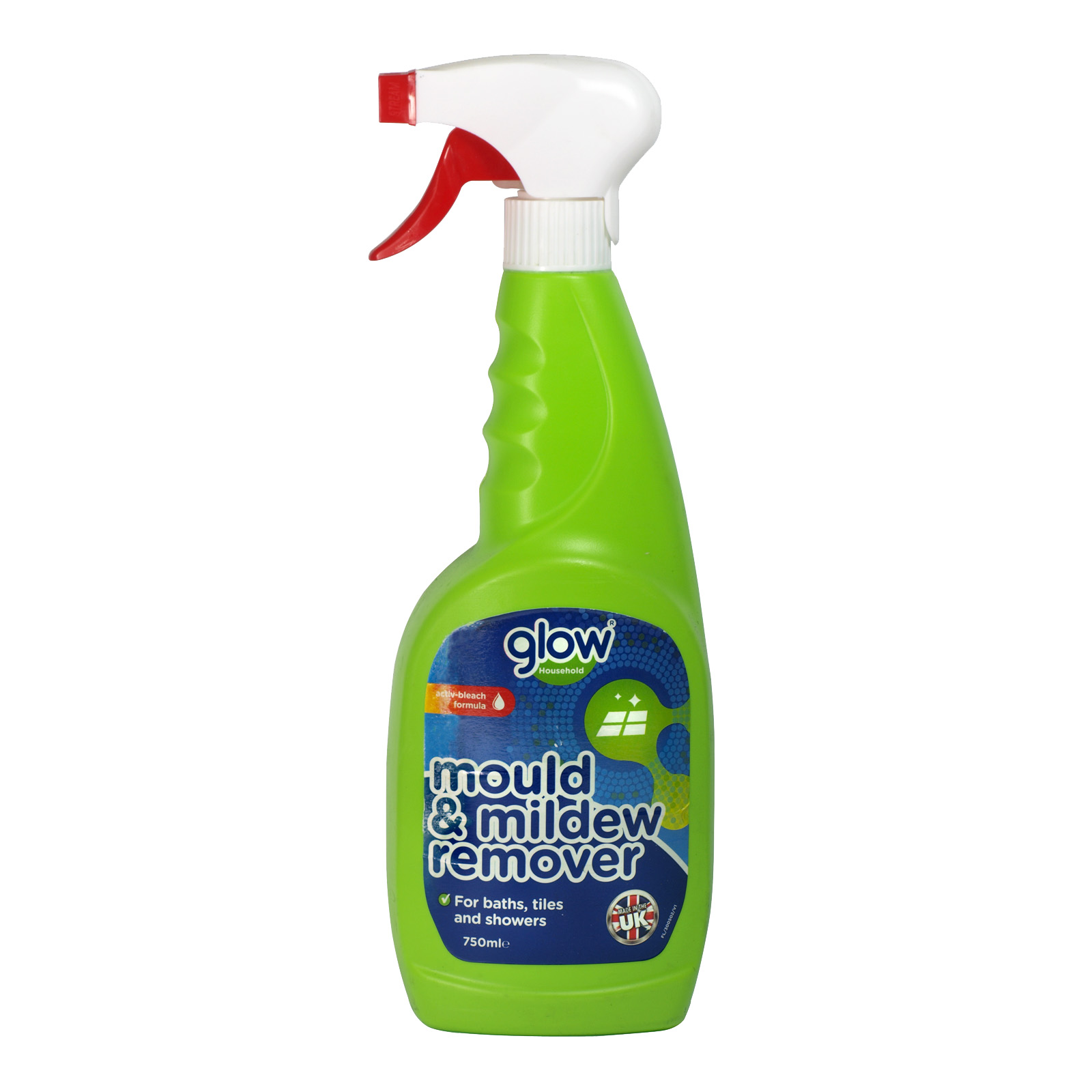 GLOW 750ML TRIGGER MOULD+MILDEW REMOVER X12