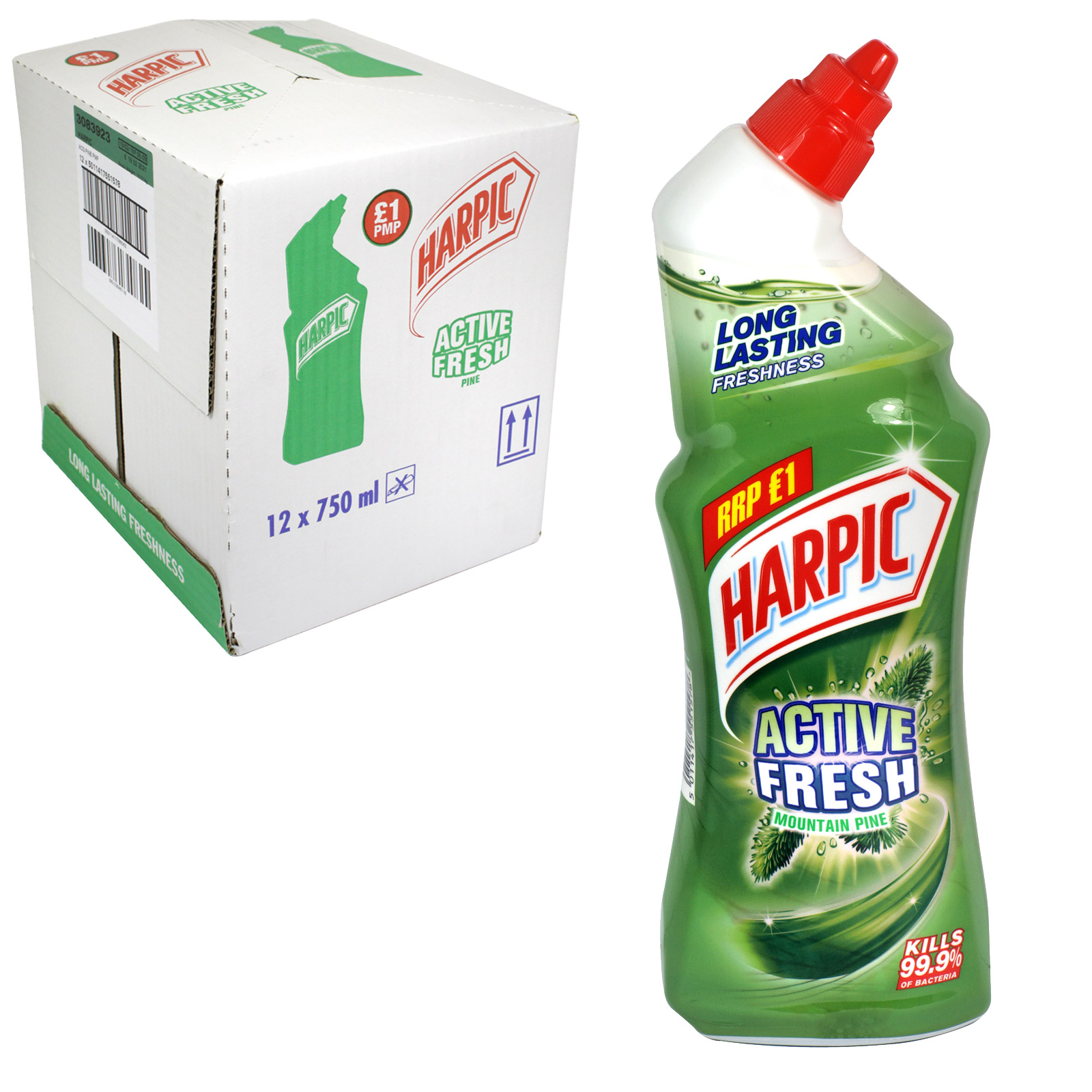 HARPIC ACT CLEAN GEL 750M PINE PM £1 X12