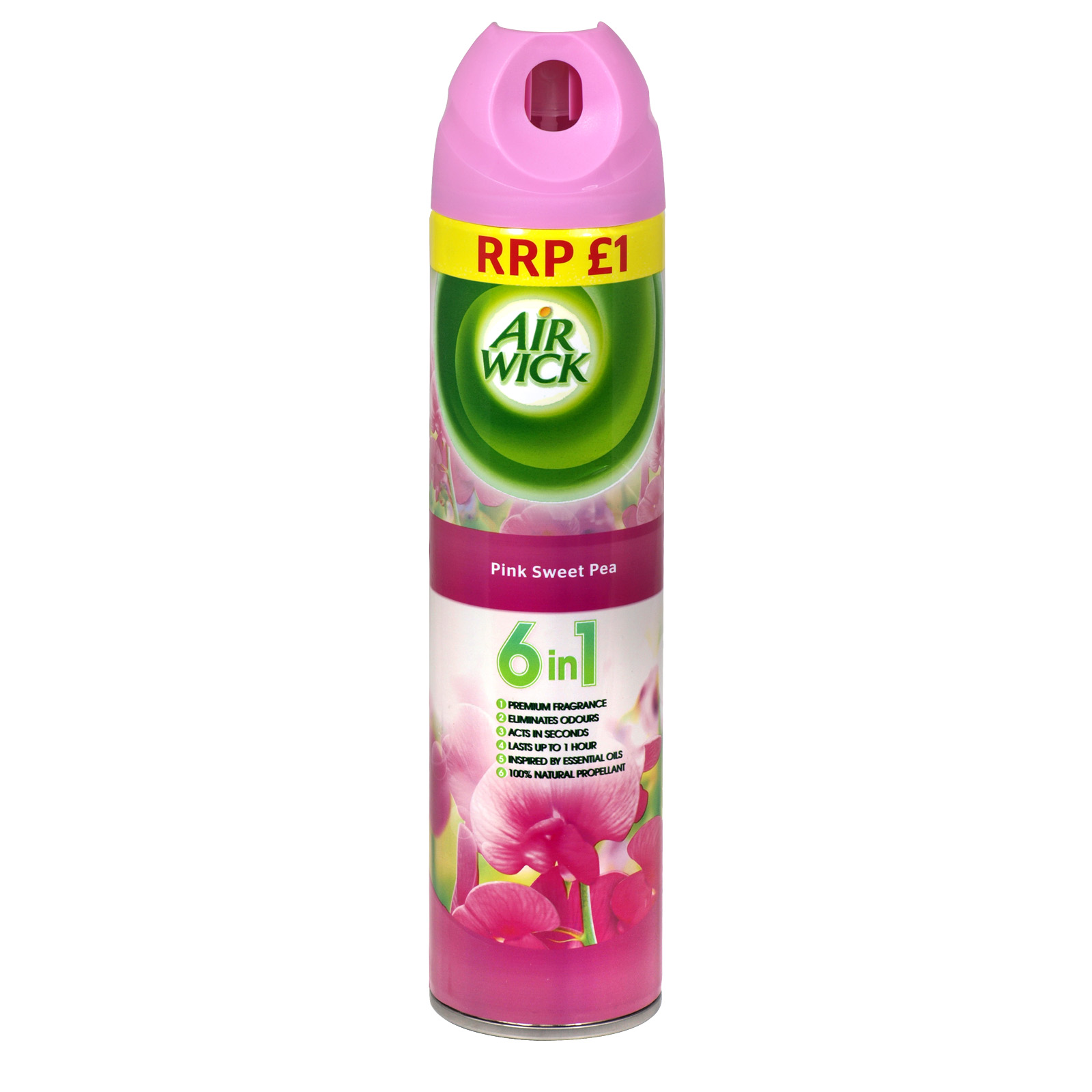 AIRWICK 6IN1 AIR FRESHENER 240ML PM?1 PINK SWEET PEA X12