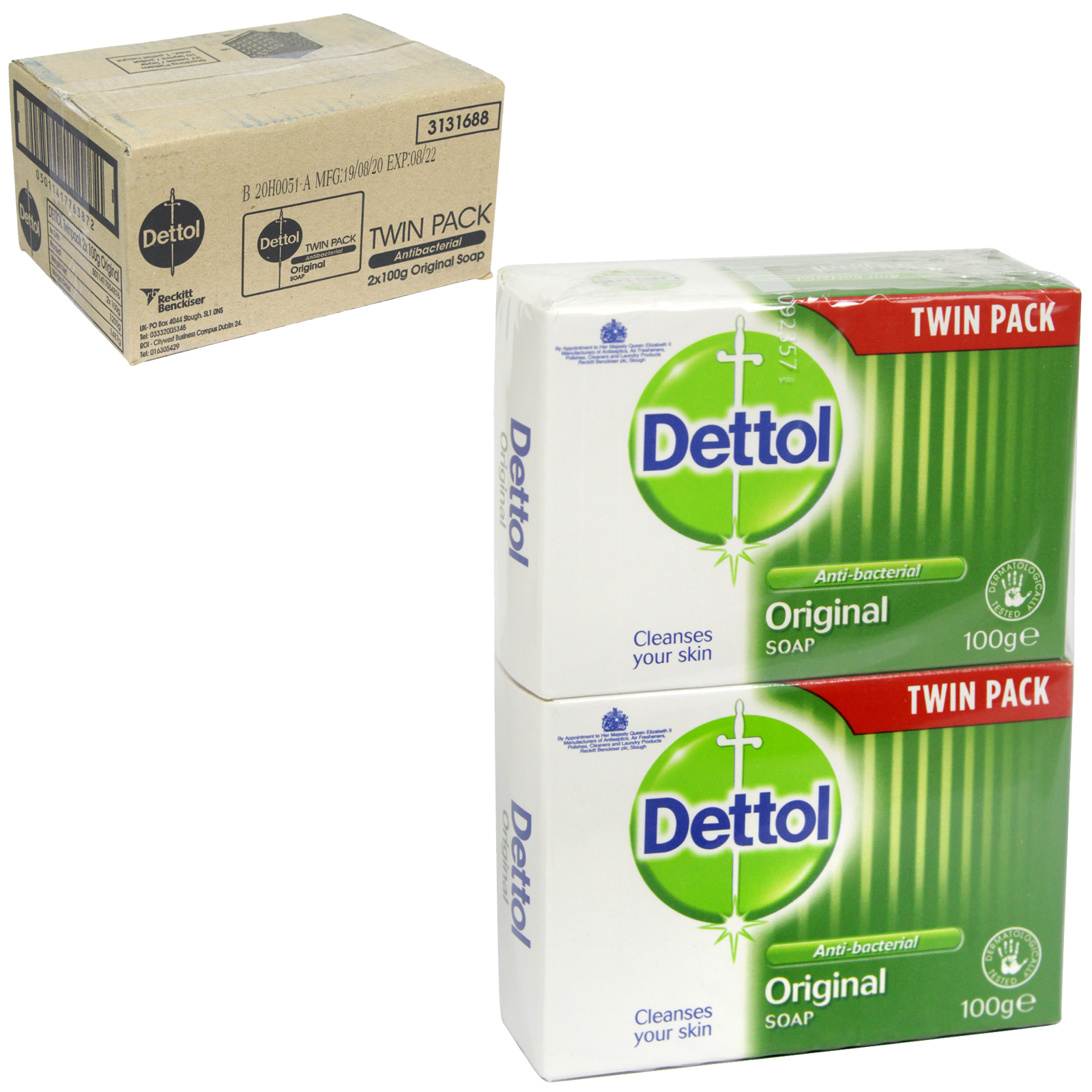 DETTOL SOAP 2X100GM ORIGINAL X6